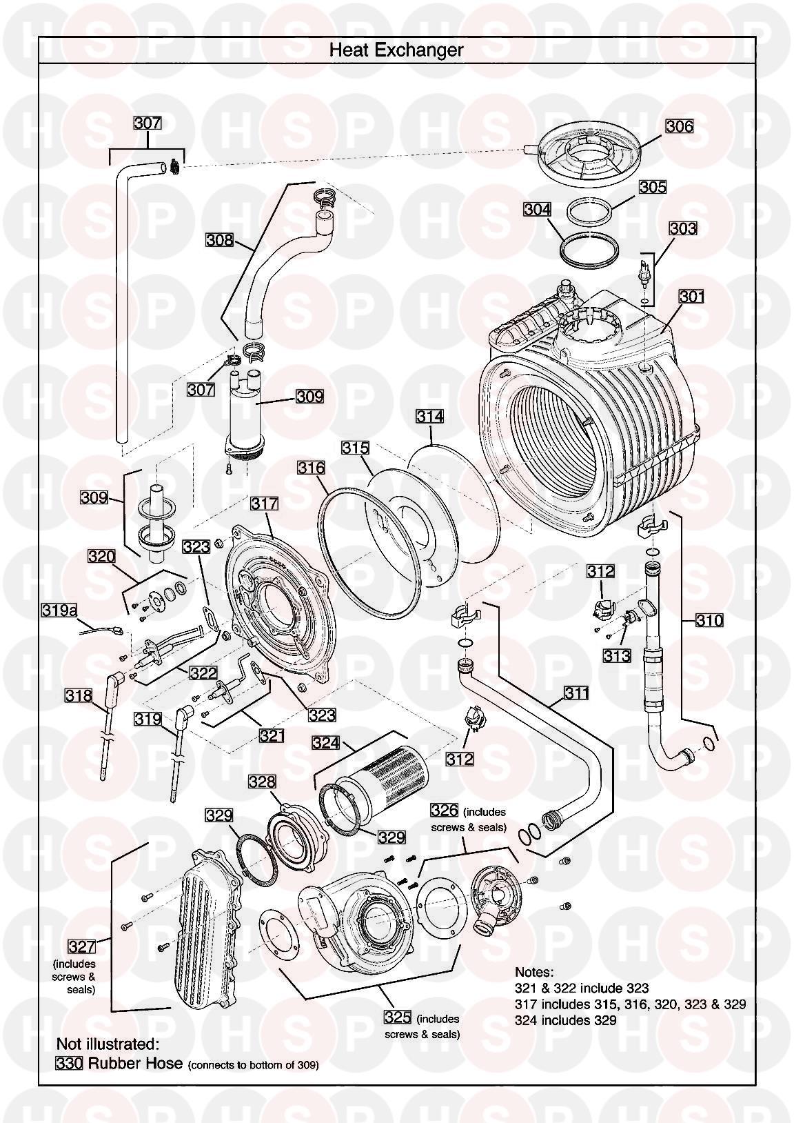 Baxi NETATEC 28 GA  HEAT EXCHANGER     Diagram      Heating