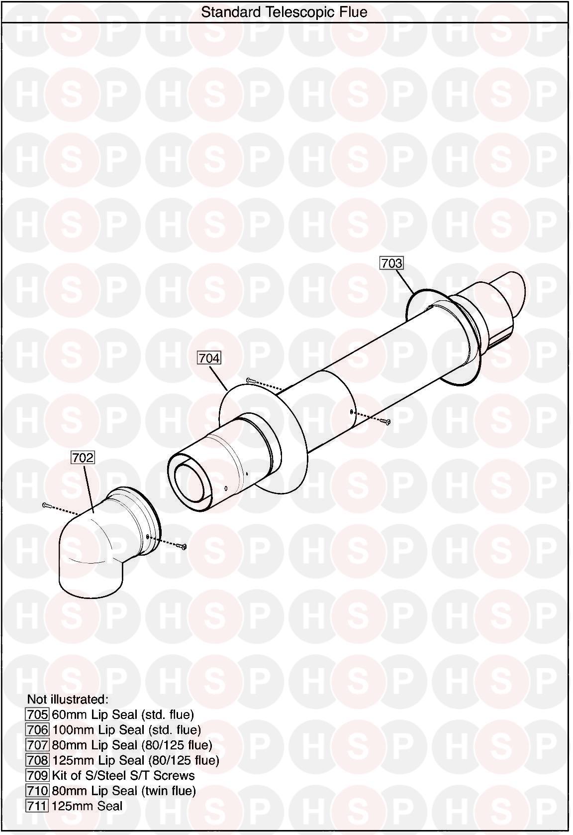 baxi ecoblue advance combi 28 appliance diagram  flue assembly