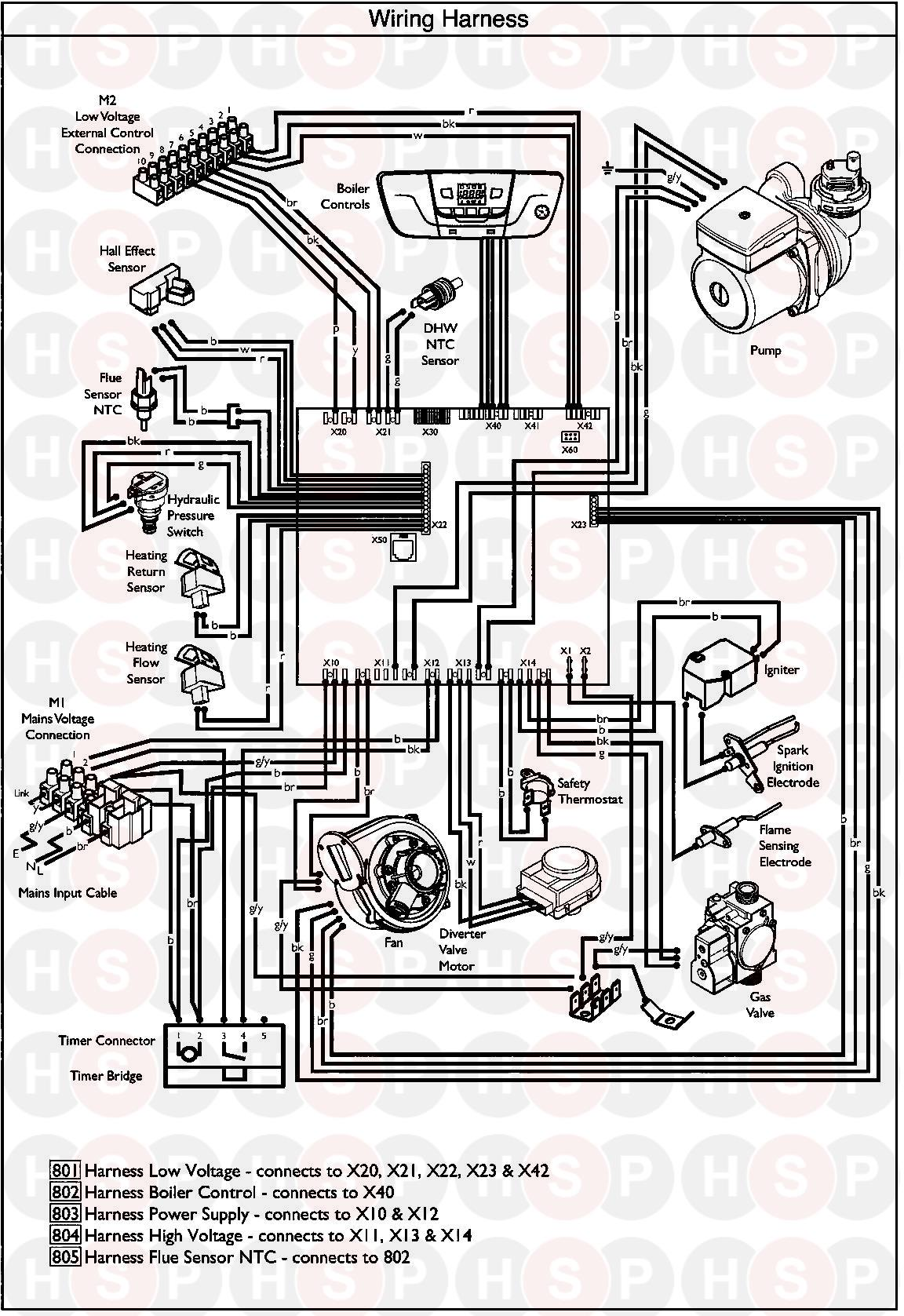 Baxi EcoBlue Advance Combi 33 Appliance Diagram (WIRING