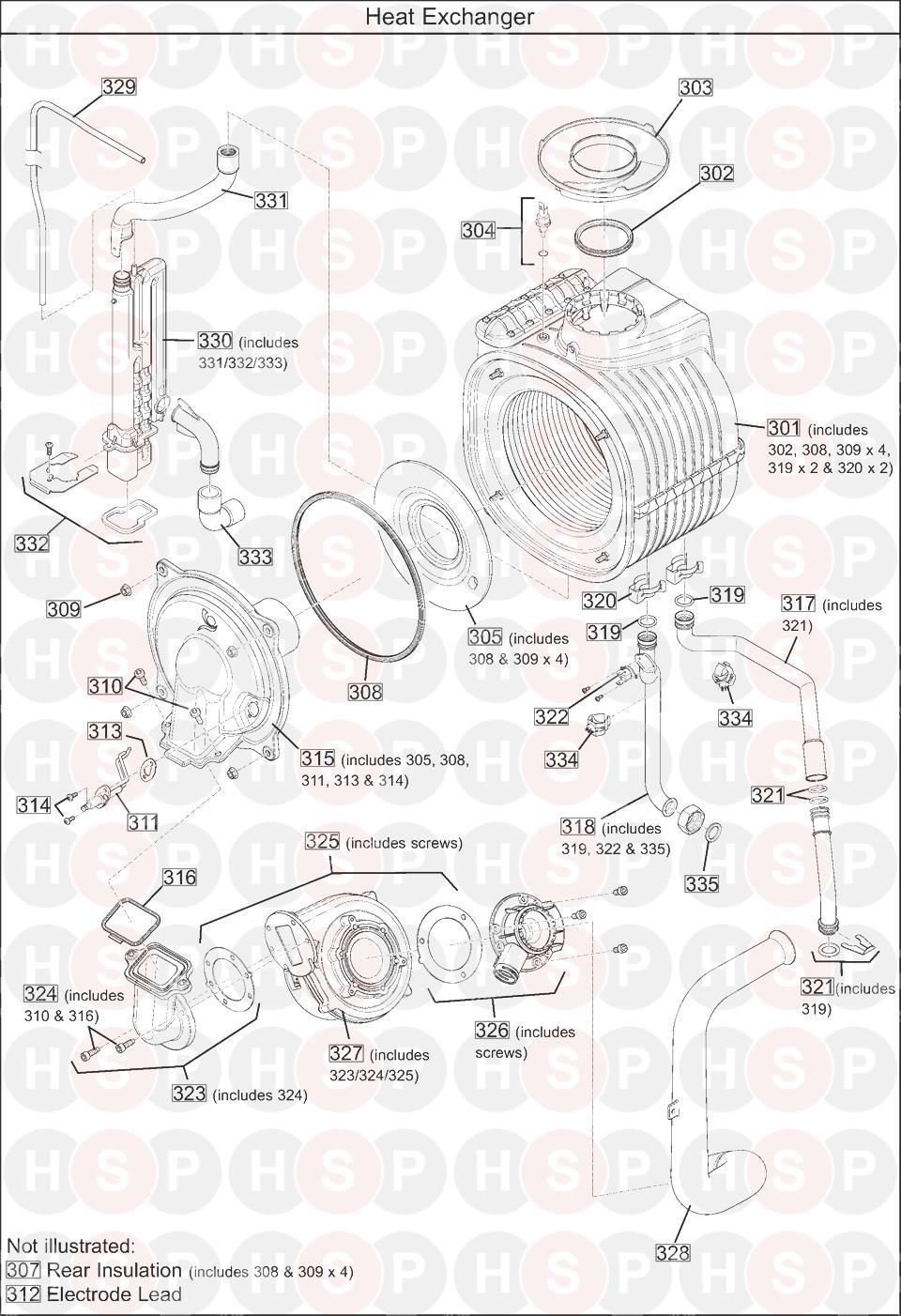 baxi 630 combi  heat exchanger  diagram