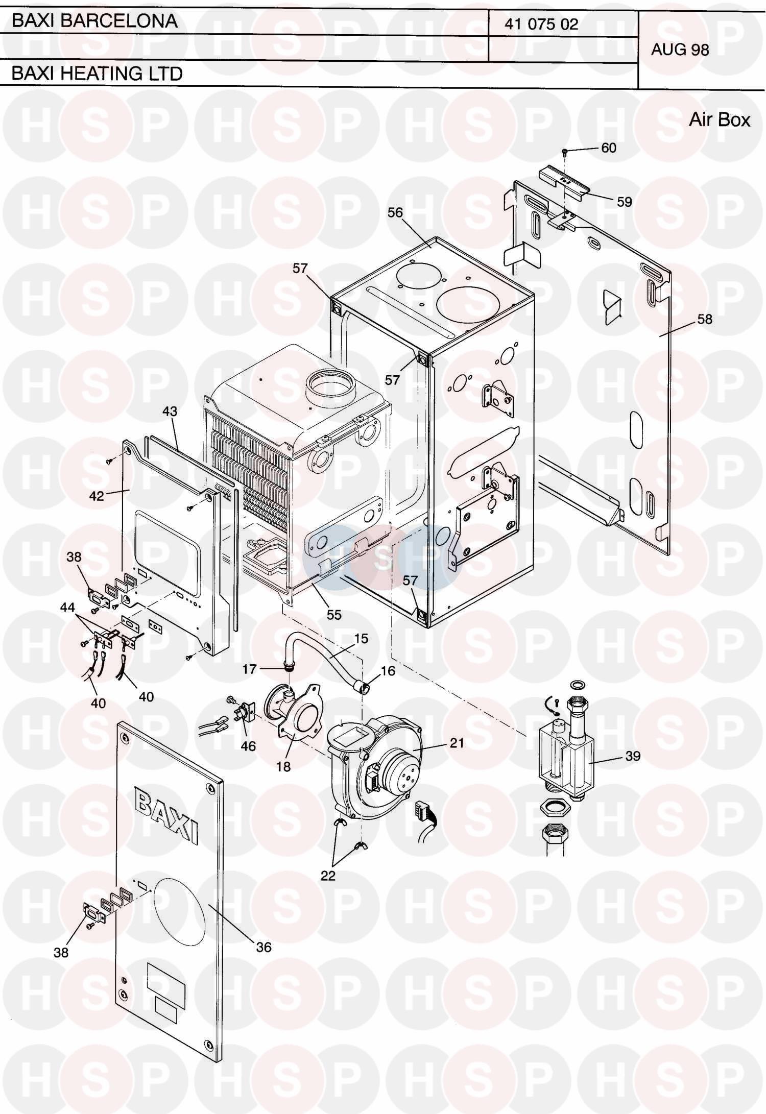 Baxi Barcelona Appliance Diagram  Air Box