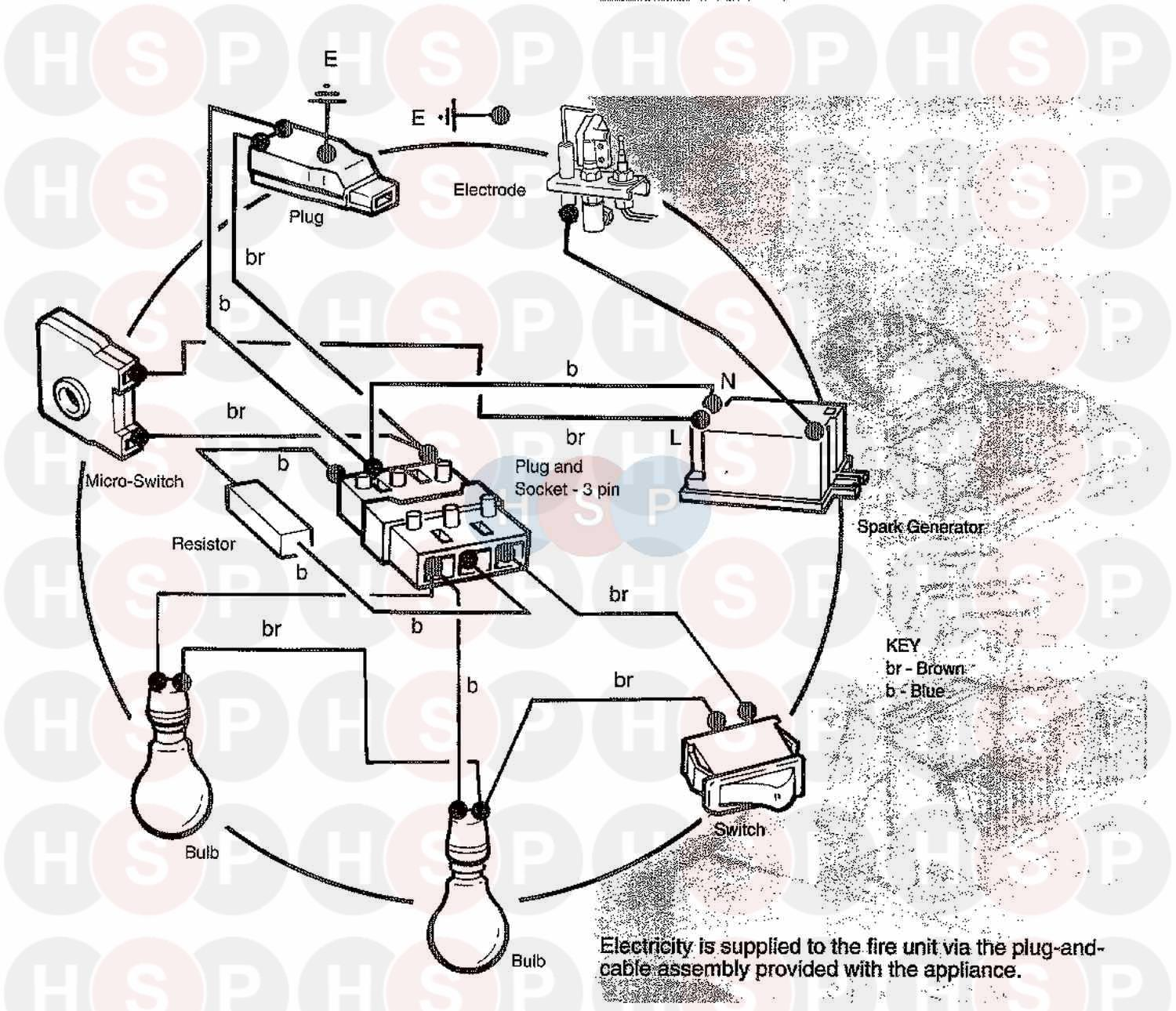 Baxi BAROQUE SUPER (Wiring 1) Diagram | Heating Spare Parts on