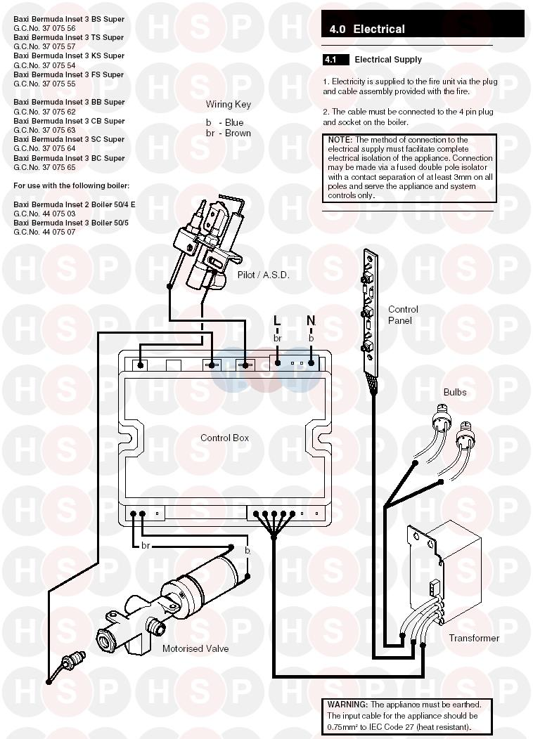 Baxi bermuda inset 3 cb super electrical diagram heating spare parts click the diagram to open it on a new page cheapraybanclubmaster Gallery