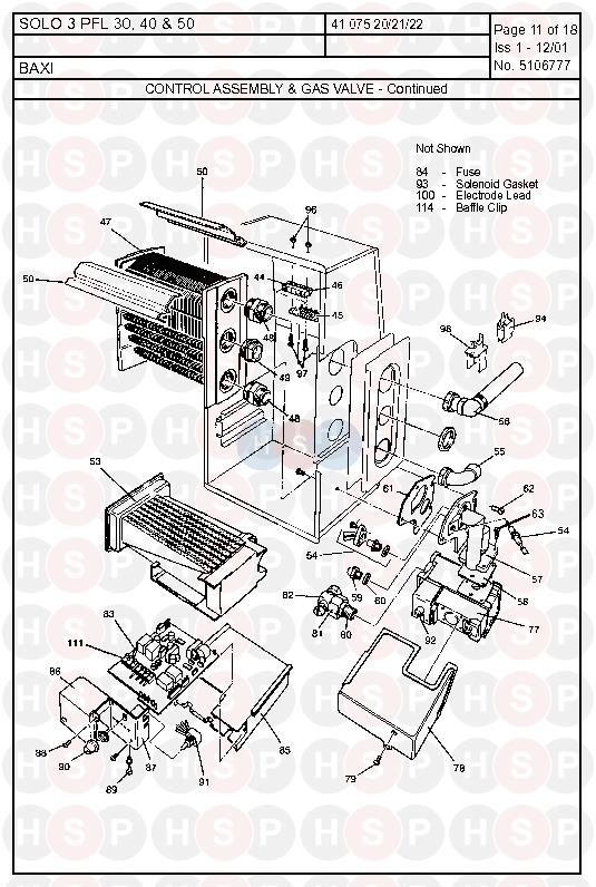 Baxi SOLO 3 PFL 30 (Control Assembly & Gas Valve 2
