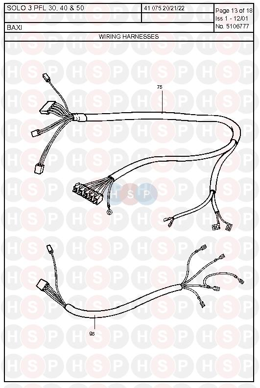 baxi solo 3 pfl 50  wiring harness  diagram