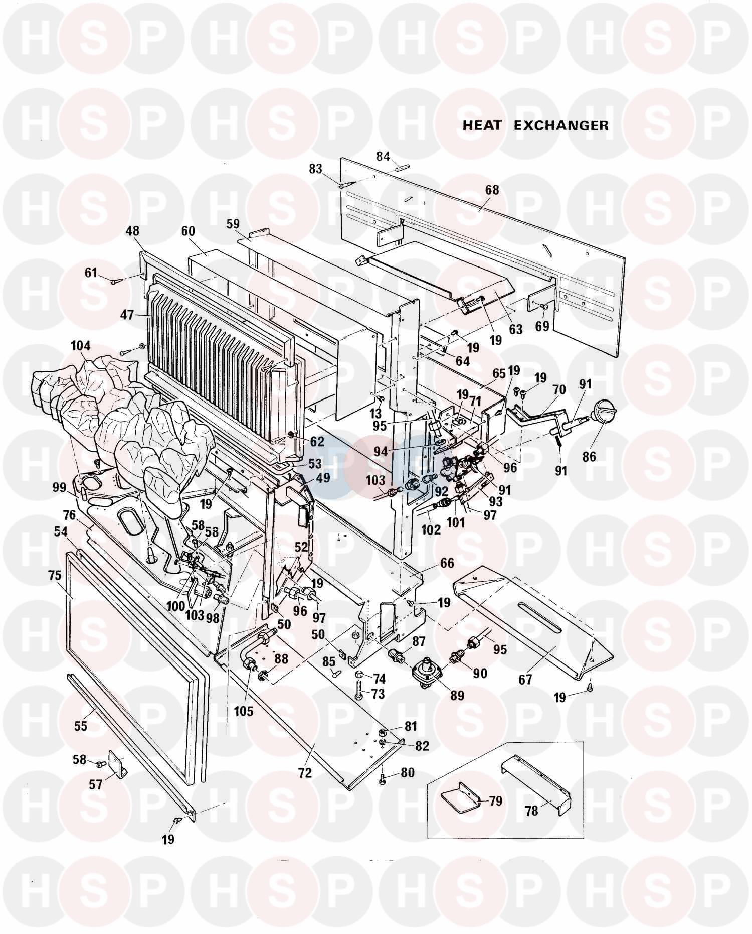 Baxi BERMUDA LFE 3 SUPER Appliance Diagram (HEAT EXCHANGER