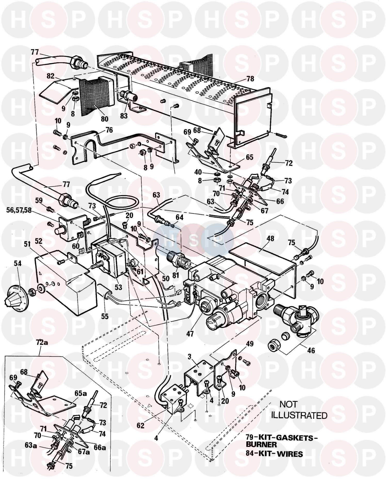baxi bermuda 551 boiler only  controls  diagram