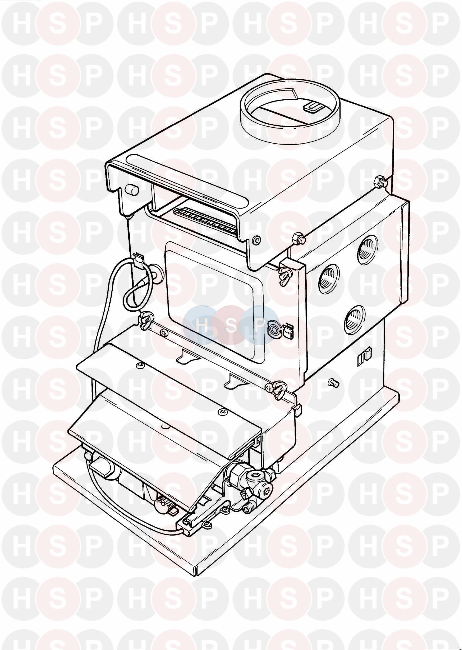 Baxi BERMUDA 57/3 M Appliance Diagram (Appliance overview
