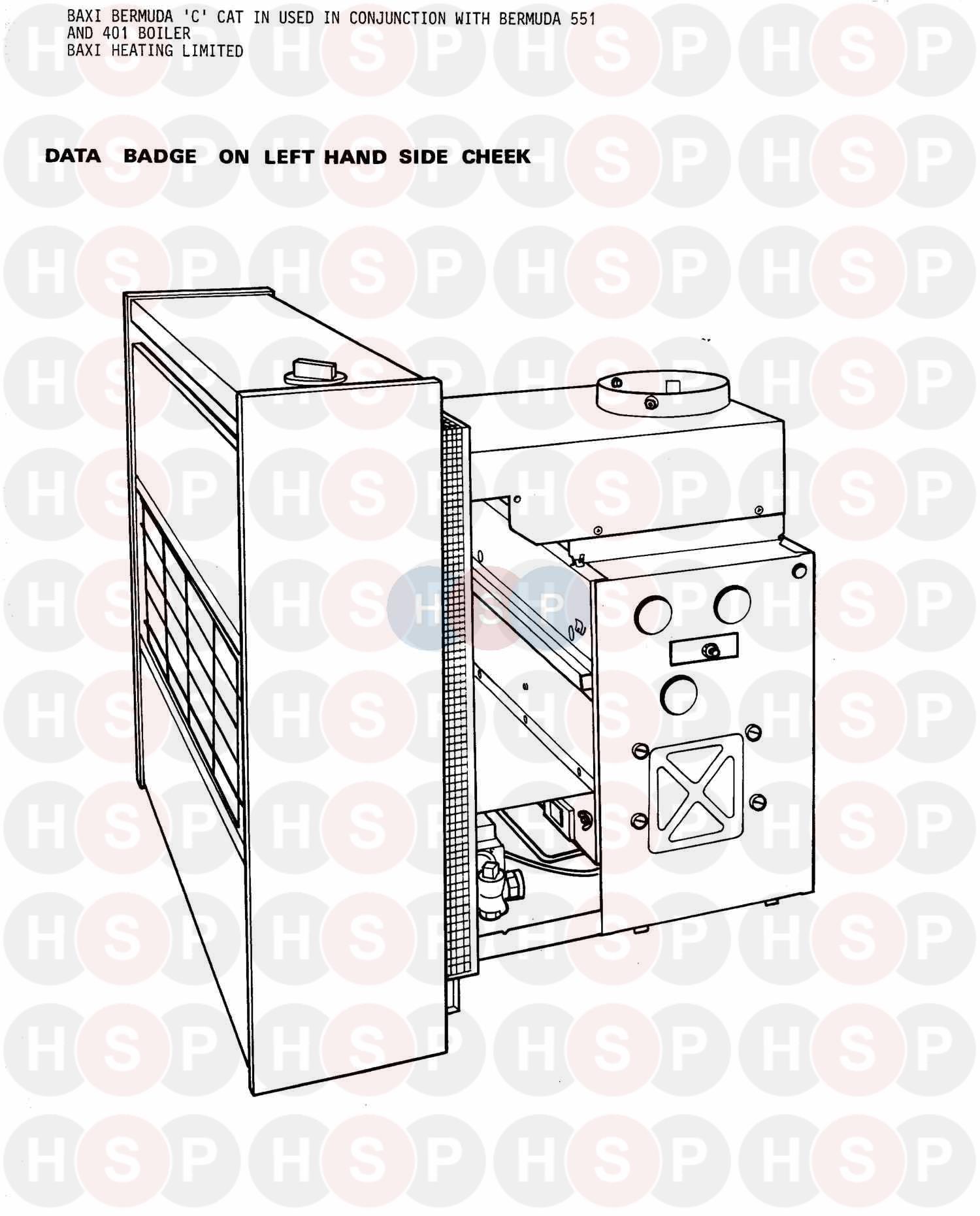 Baxi Bermuda 675 C PW Gas Fire Control Knob 042718