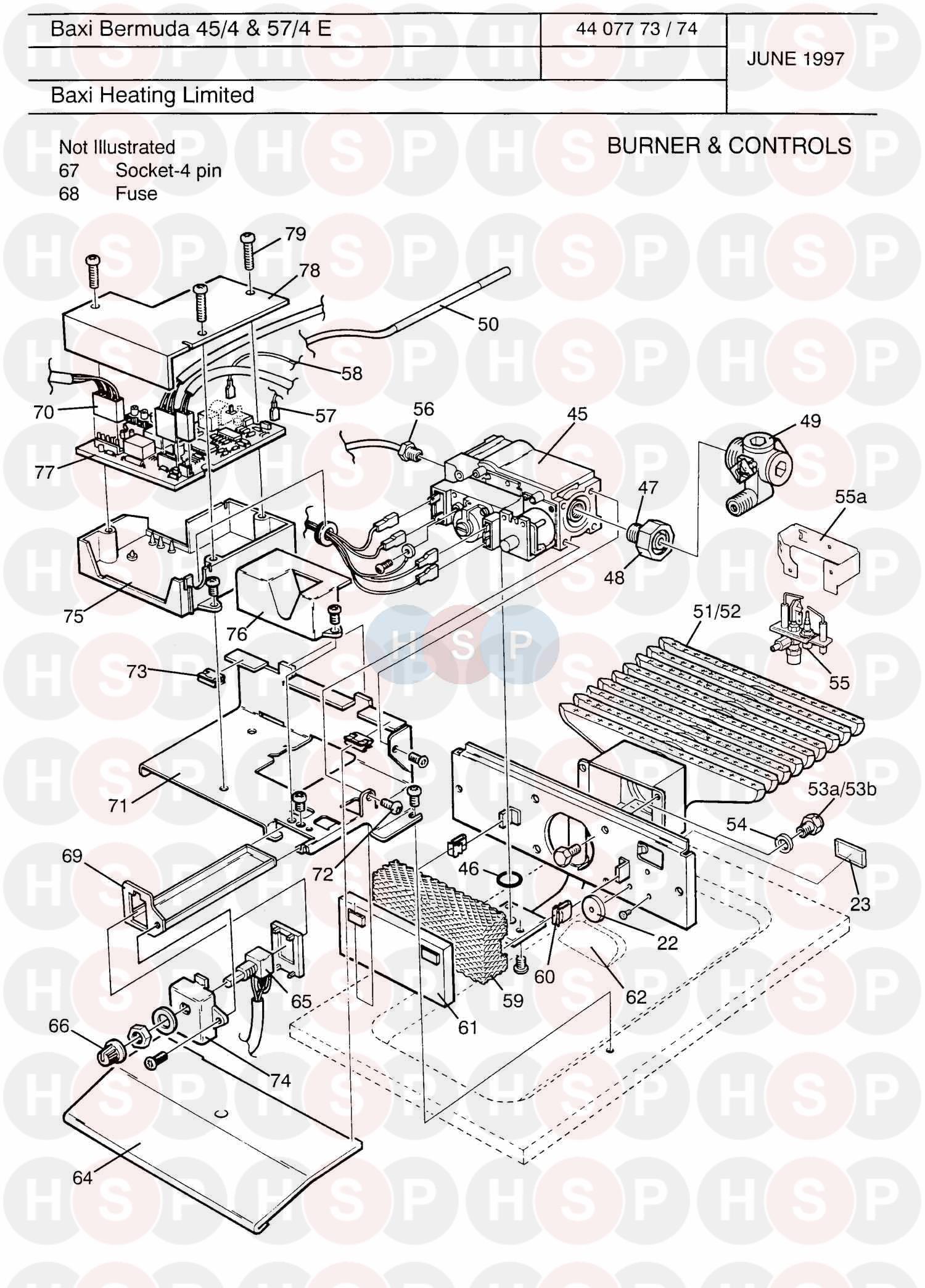 baxi bermuda 45  4 electronic appliance diagram  burner