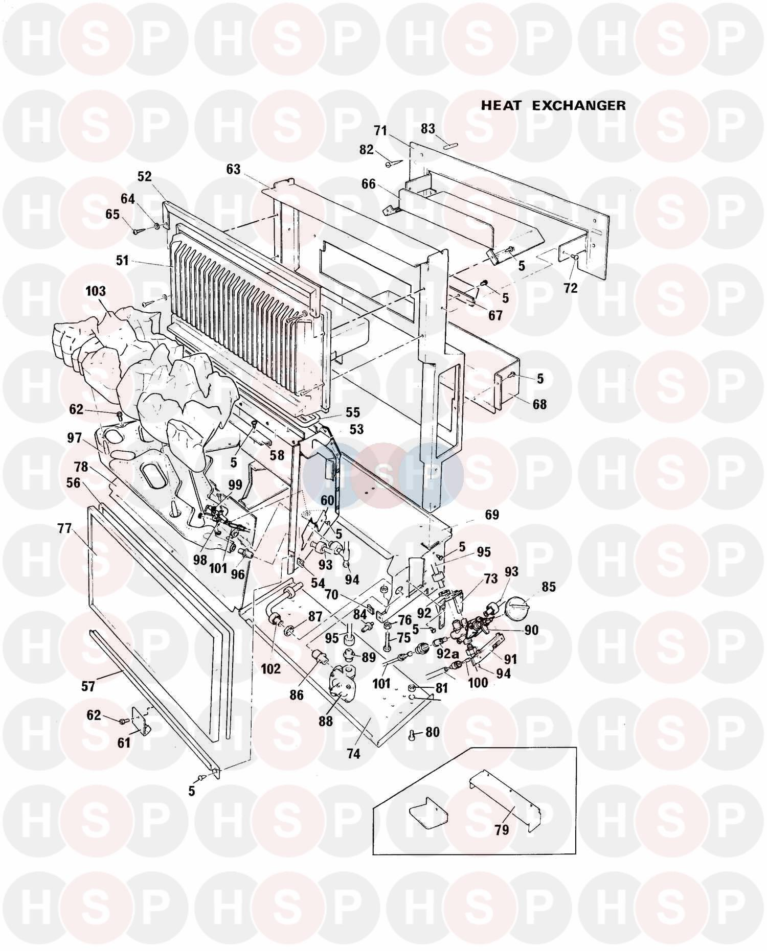 baxi bermuda gf super  heat exchanger  diagram
