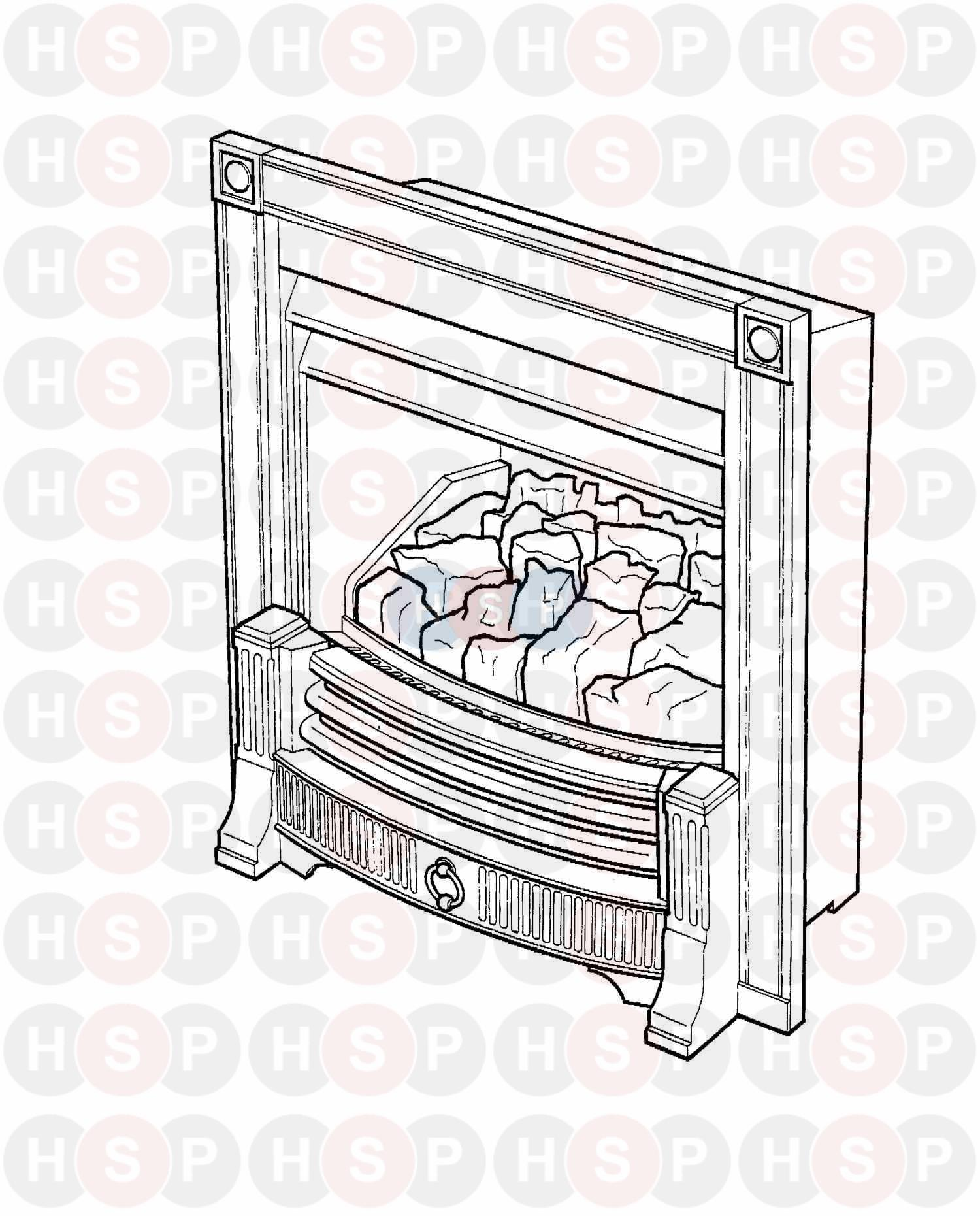 Baxi BERMUDA INSET BS Appliance Diagram (OVERVIEW