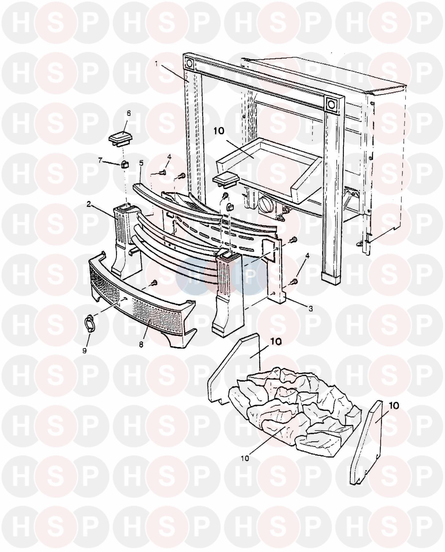 Baxi BERMUDA INSET TS Appliance Diagram (ASSEMBLY 1