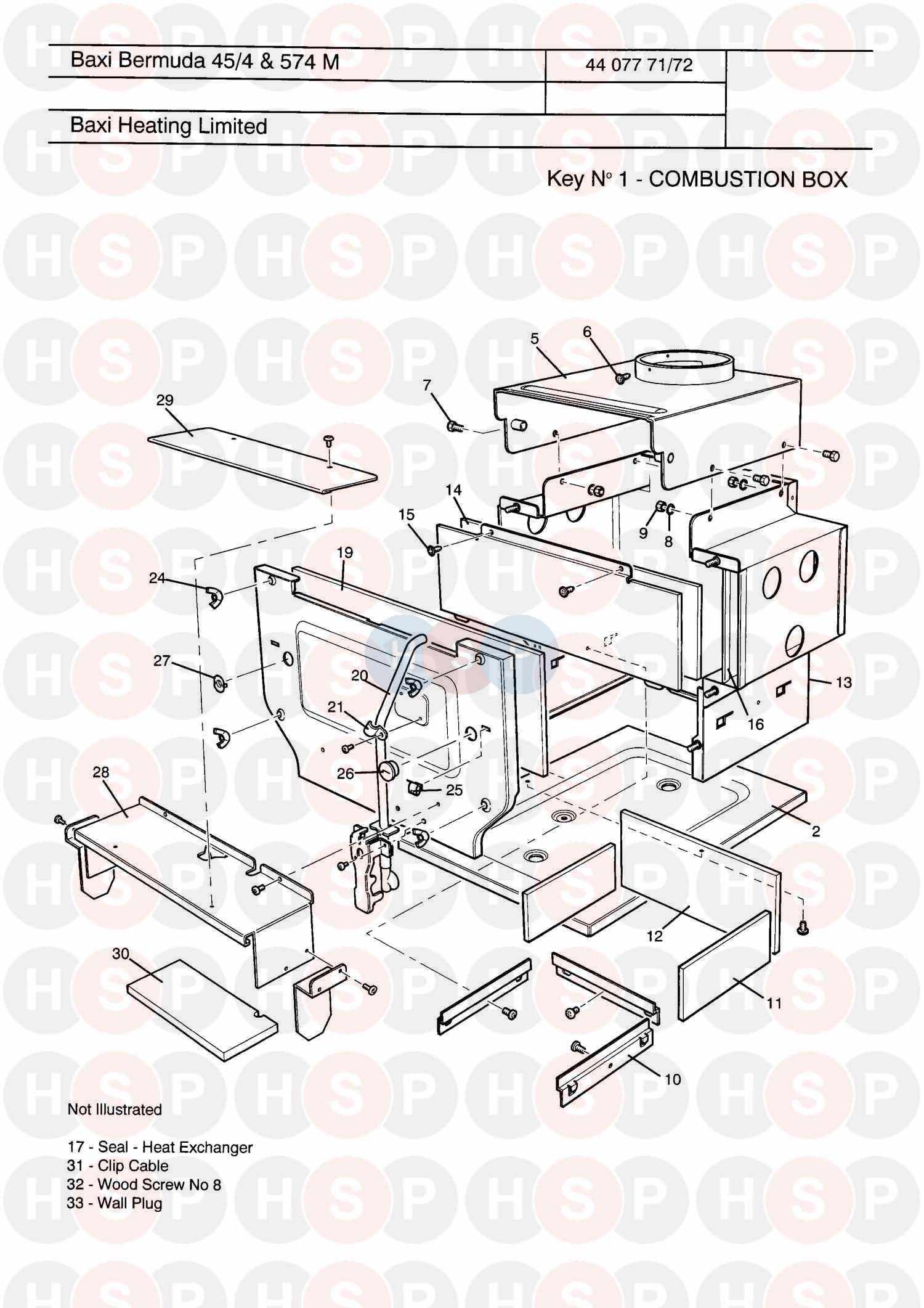baxi bermuda 57  4 manual  combustion box  diagram
