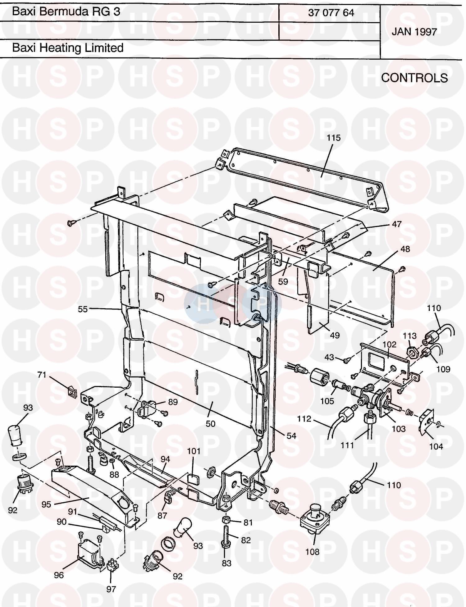baxi bermuda rg3 renewal ng appliance diagram  controls