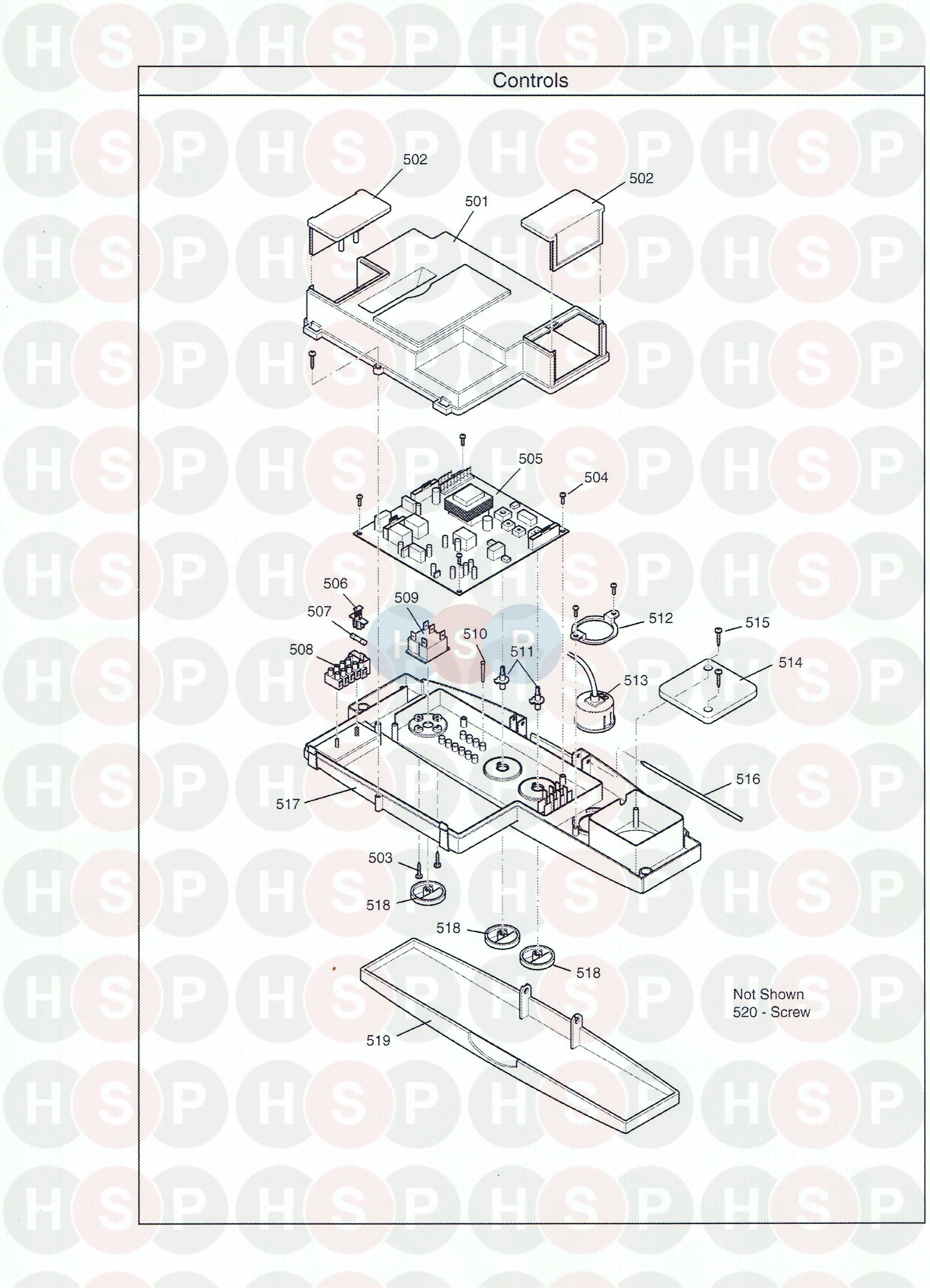 Baxi COMBI INSTANT 80E HE Appliance Diagram (Control