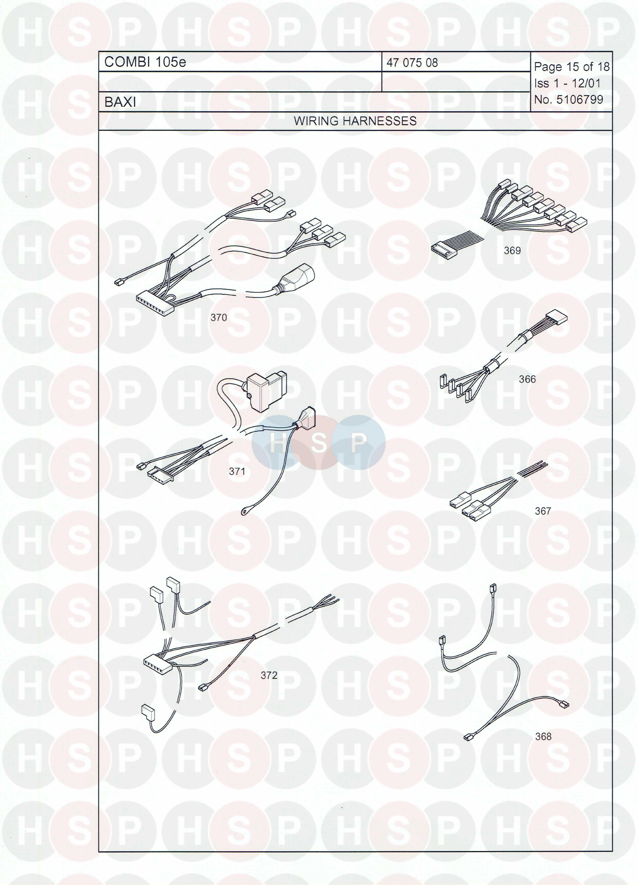 baxi combi 105e  wiring  diagram