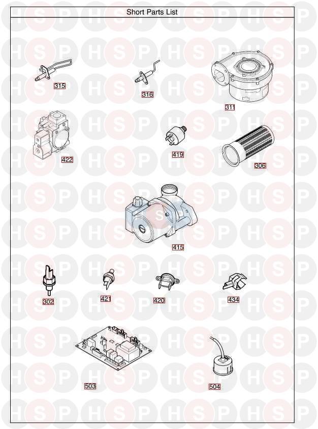 Baxi Megaflo 15 He A Short Parts List Diagram Heating