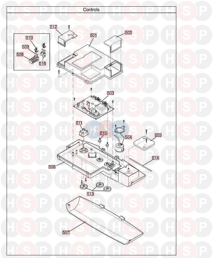baxi megaflo 18 he a  control box  diagram