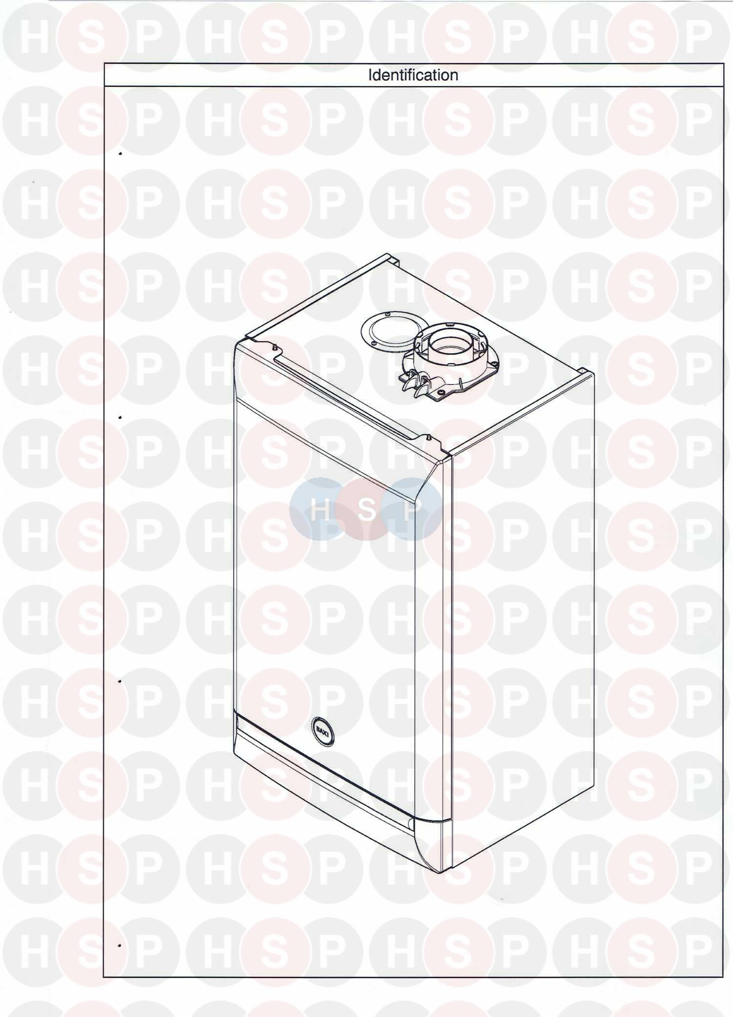 Baxi DUO TEC 33 HE (APPLIANCE IDENTIFICATION) Diagram