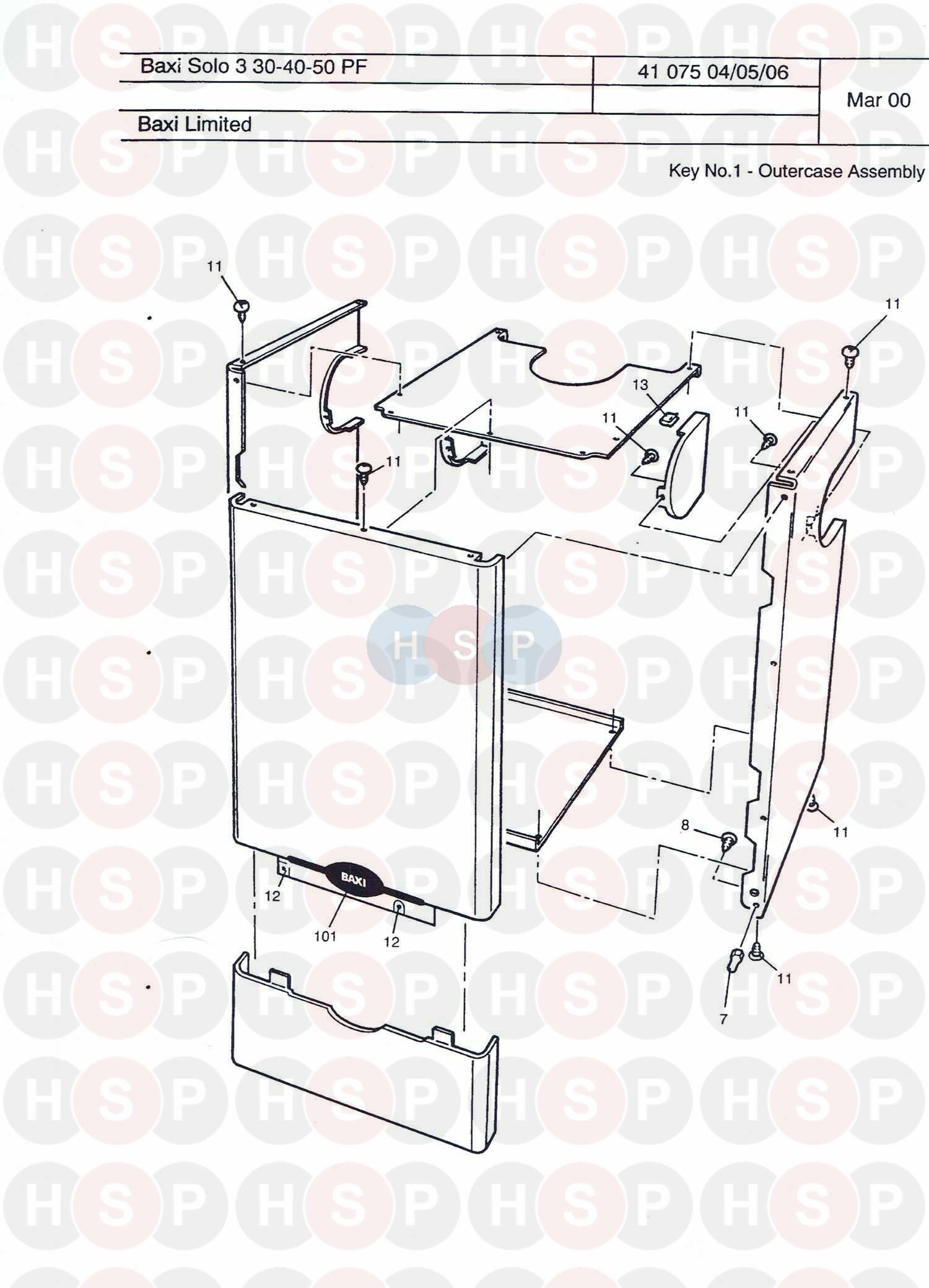 baxi solo 3 60 pf  assembly 2  diagram