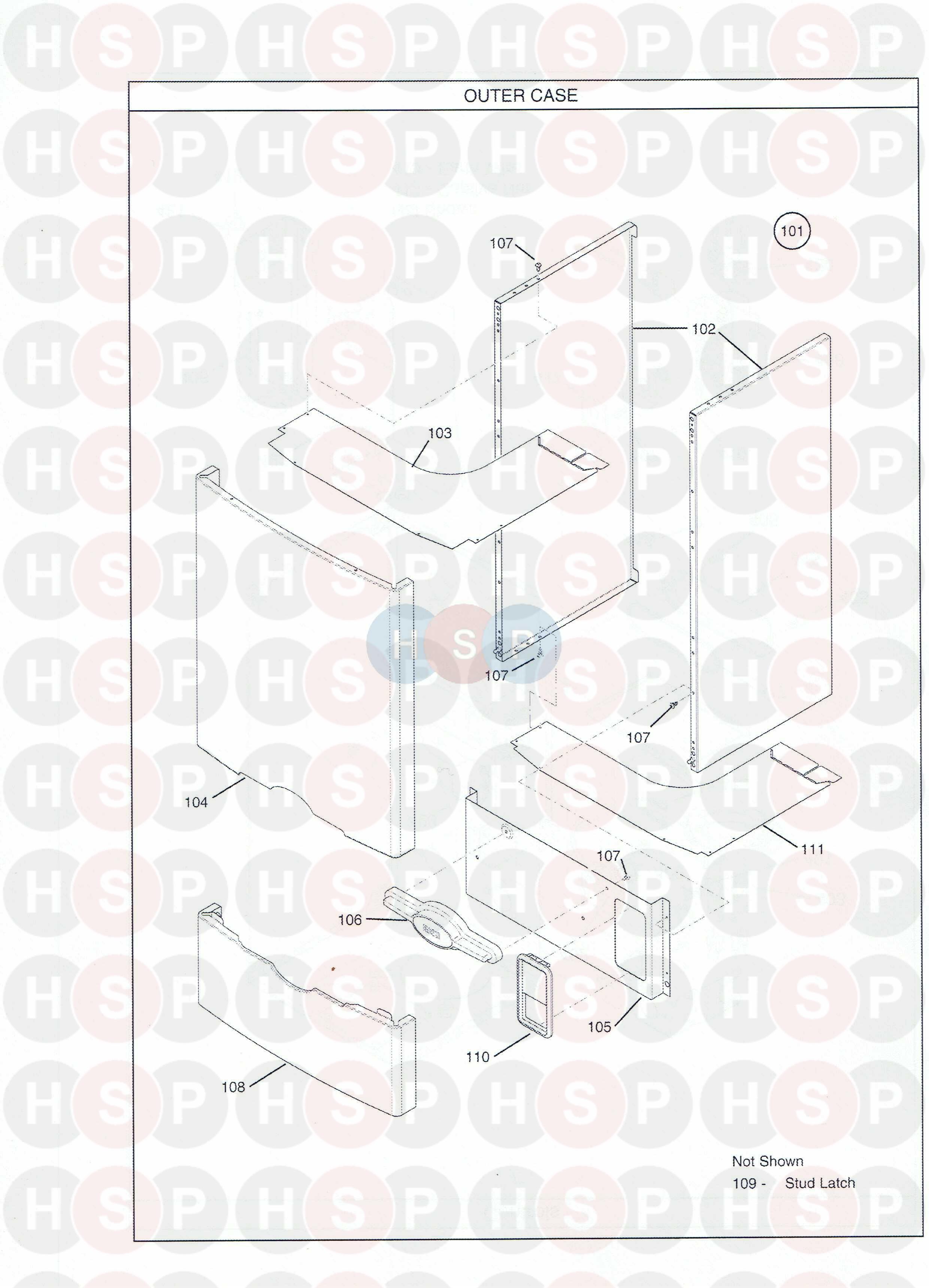baxi 80  2 he plus  outer case  diagram