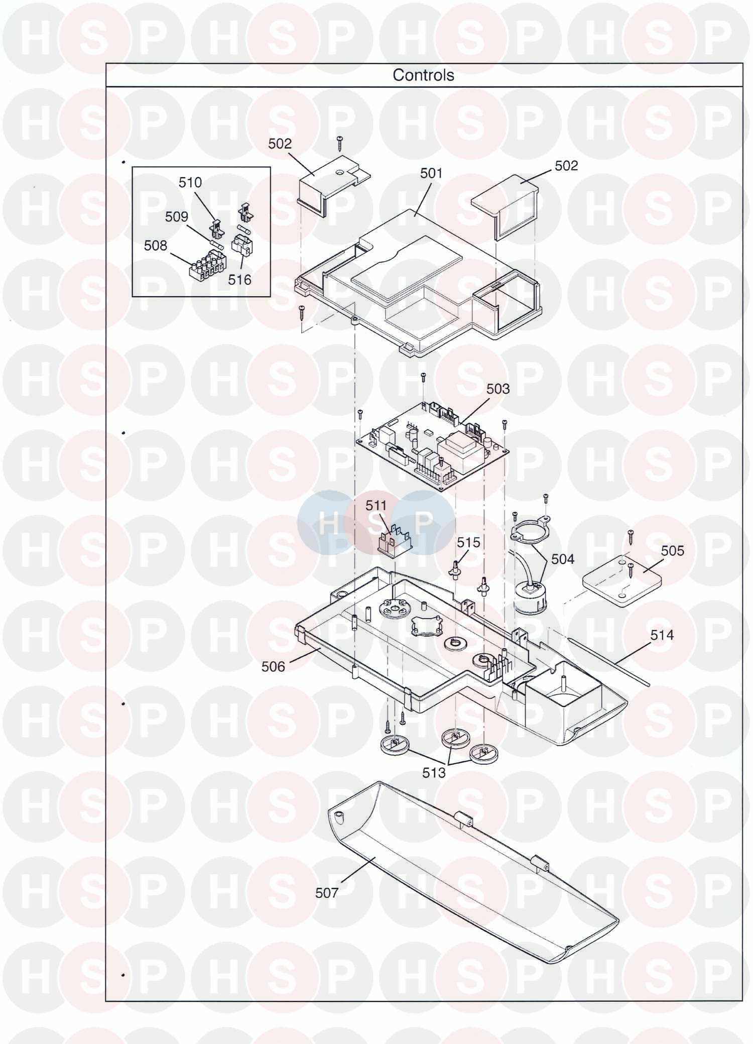 baxi duo tec 33 he appliance diagram  controls
