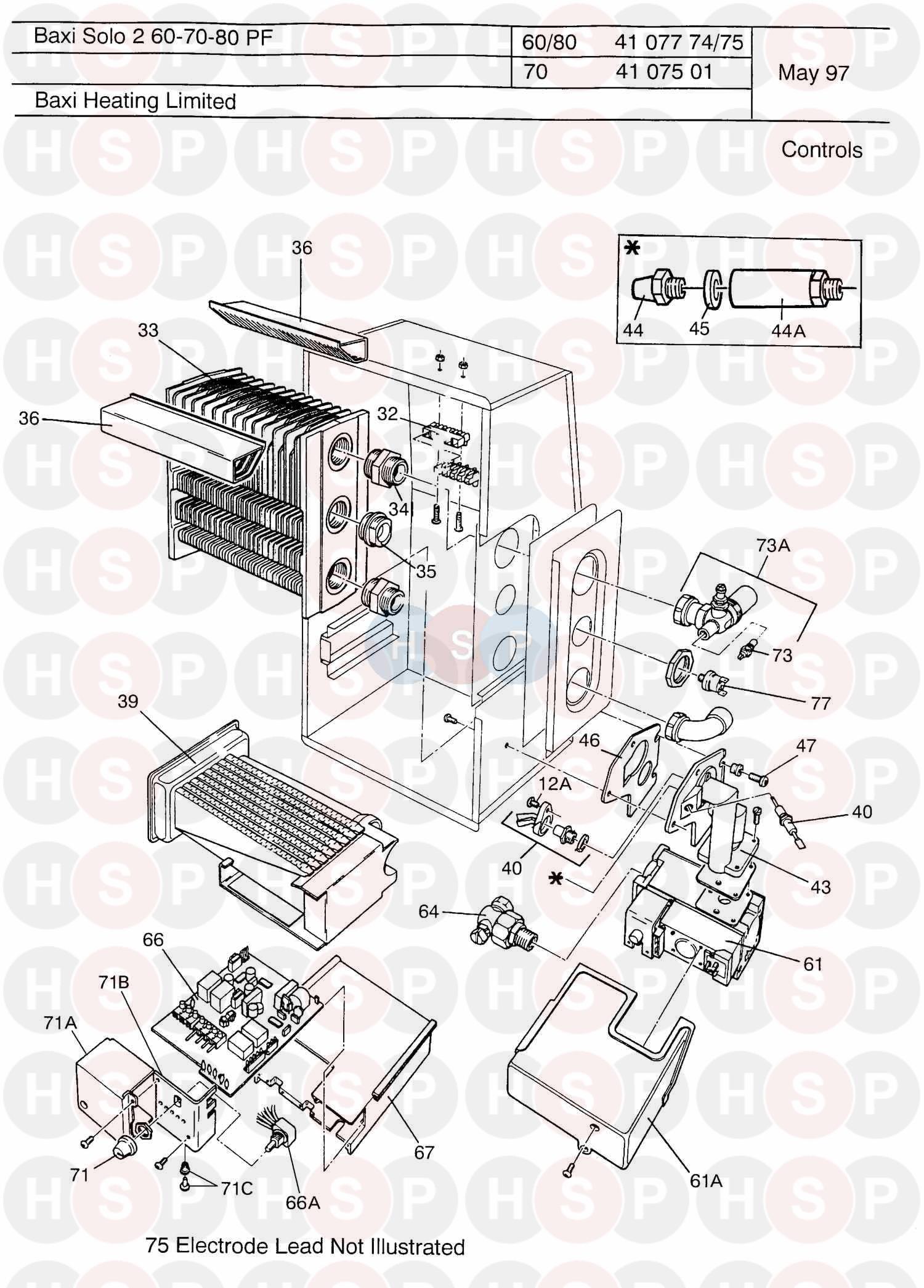 baxi solo pf 2 60  controls  diagram