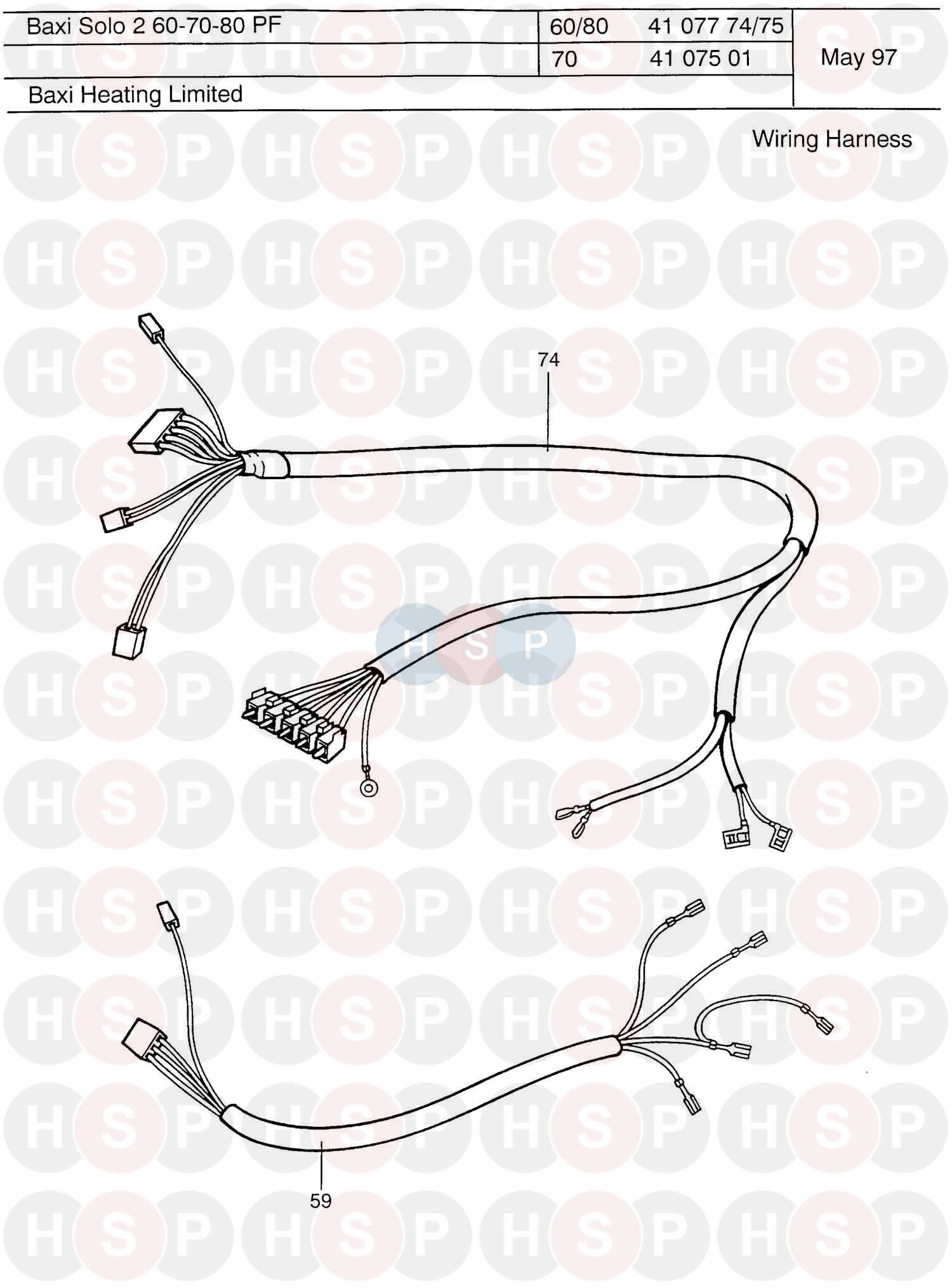 baxi solo pf 2 60  wiring harness  diagram