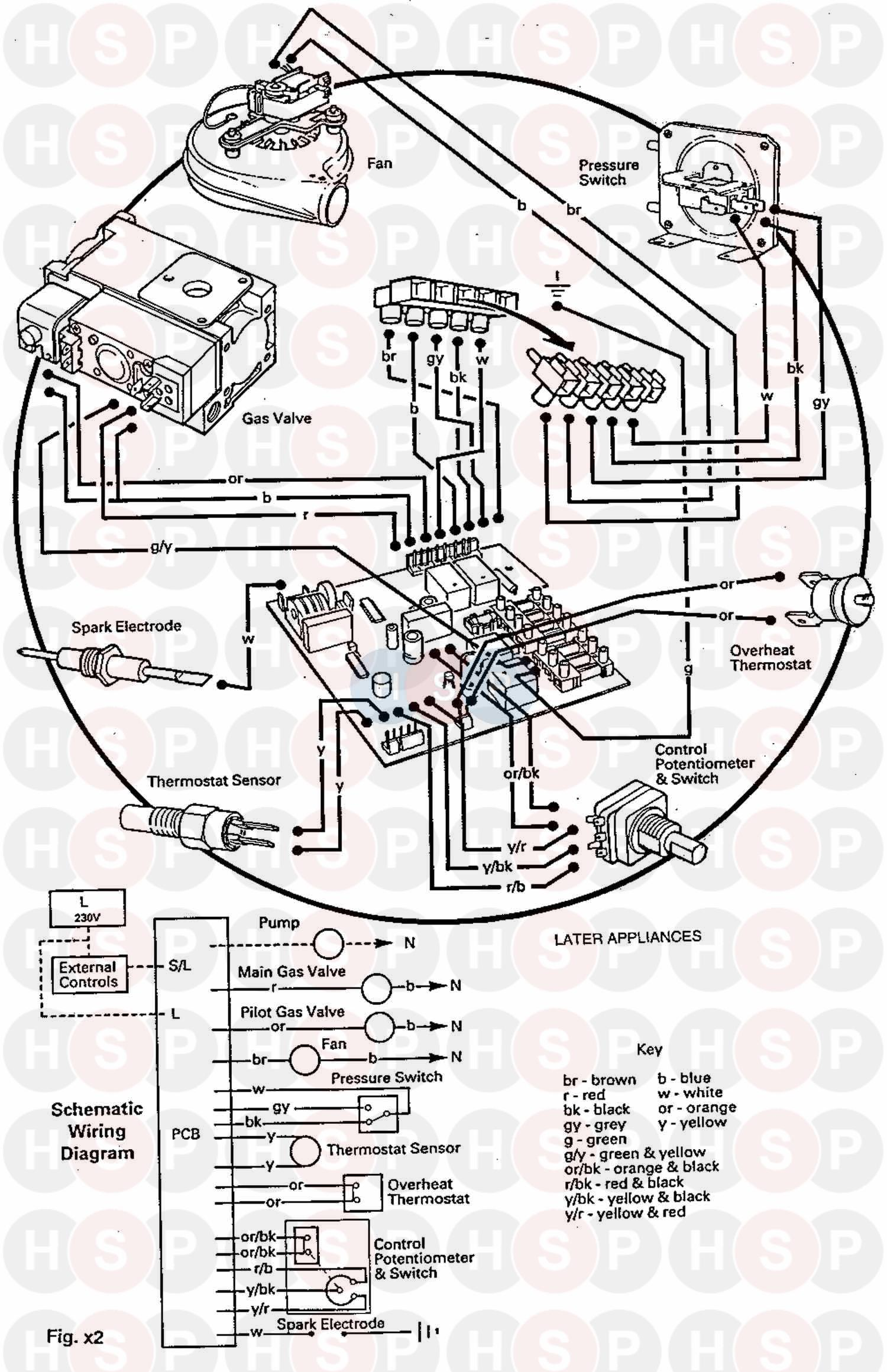 Baxi SOLO PF 2 60 (Wiring Diagram (Later Applianc) Diagram