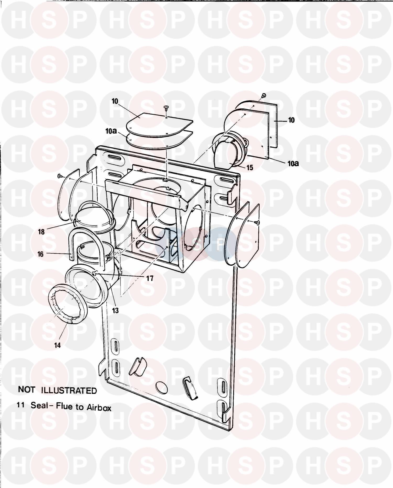 baxi solo 2 pf 50  inner case  diagram