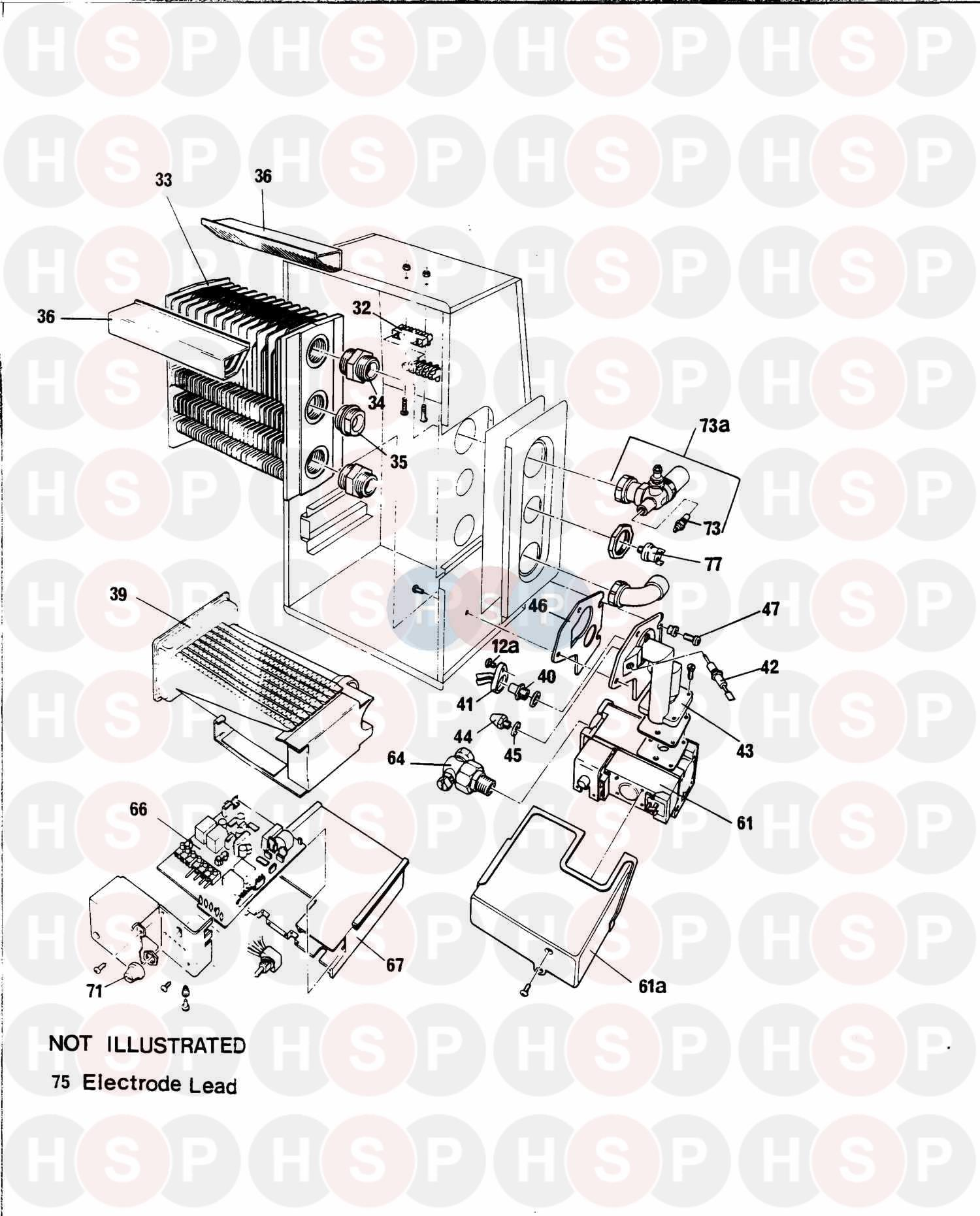 Baxi Solo 2 Pf 50  Boiler    Combustion Box  Diagram