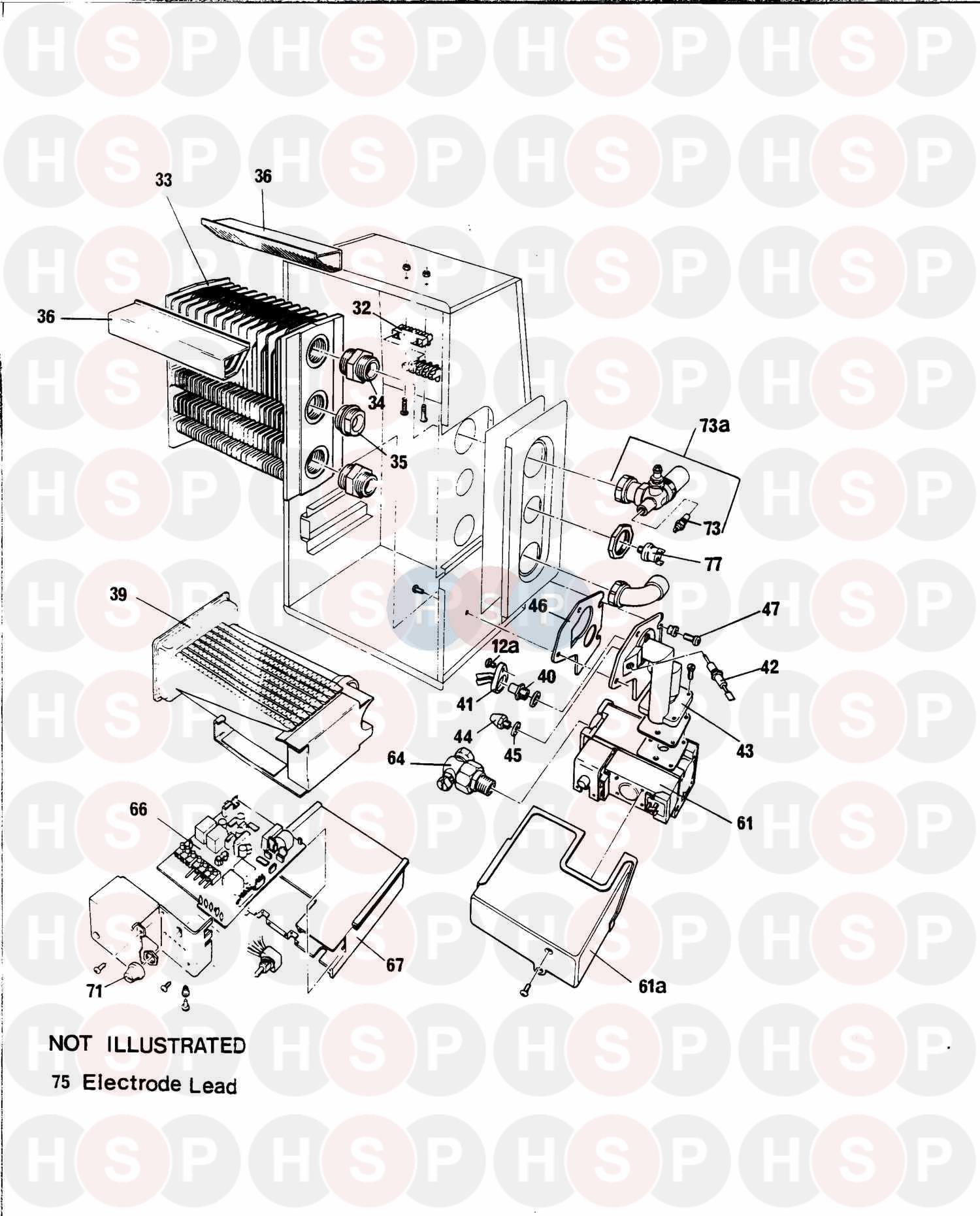 Baxi SOLO 2 PF 50 (Boiler / Combustion Box) Diagram