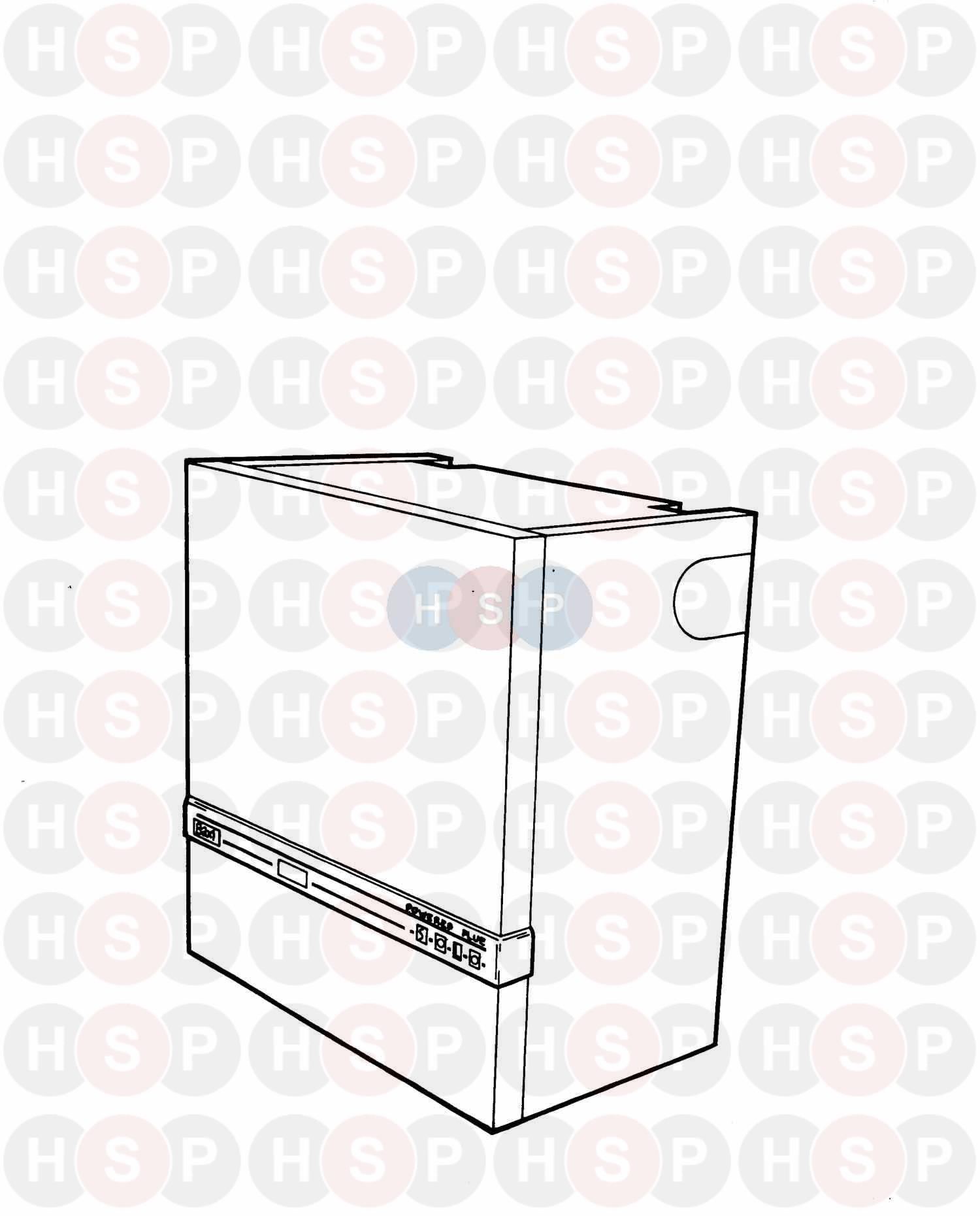 Baxi SOLO WM 70/4 PF (Appliance overview) Diagram