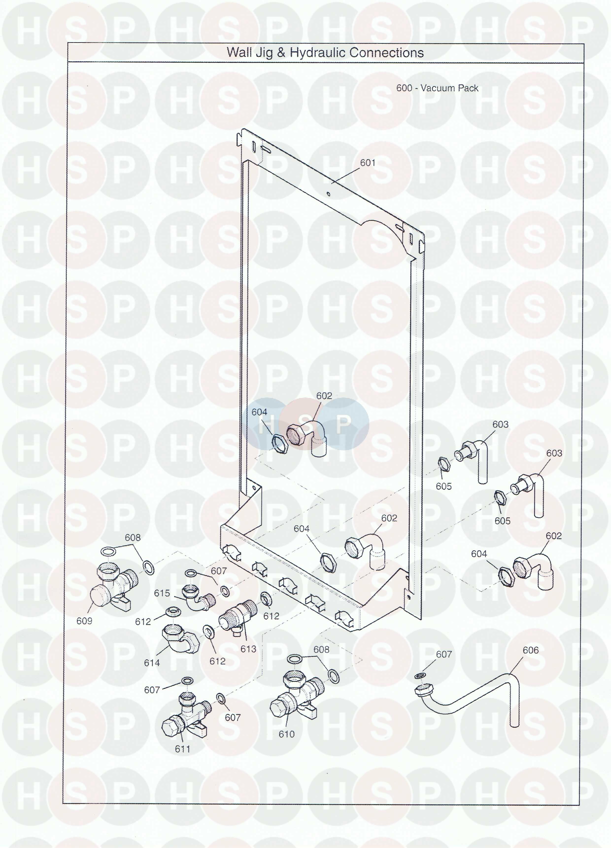 baxi combi instant 105e he  wall jig  u0026 hydraulic