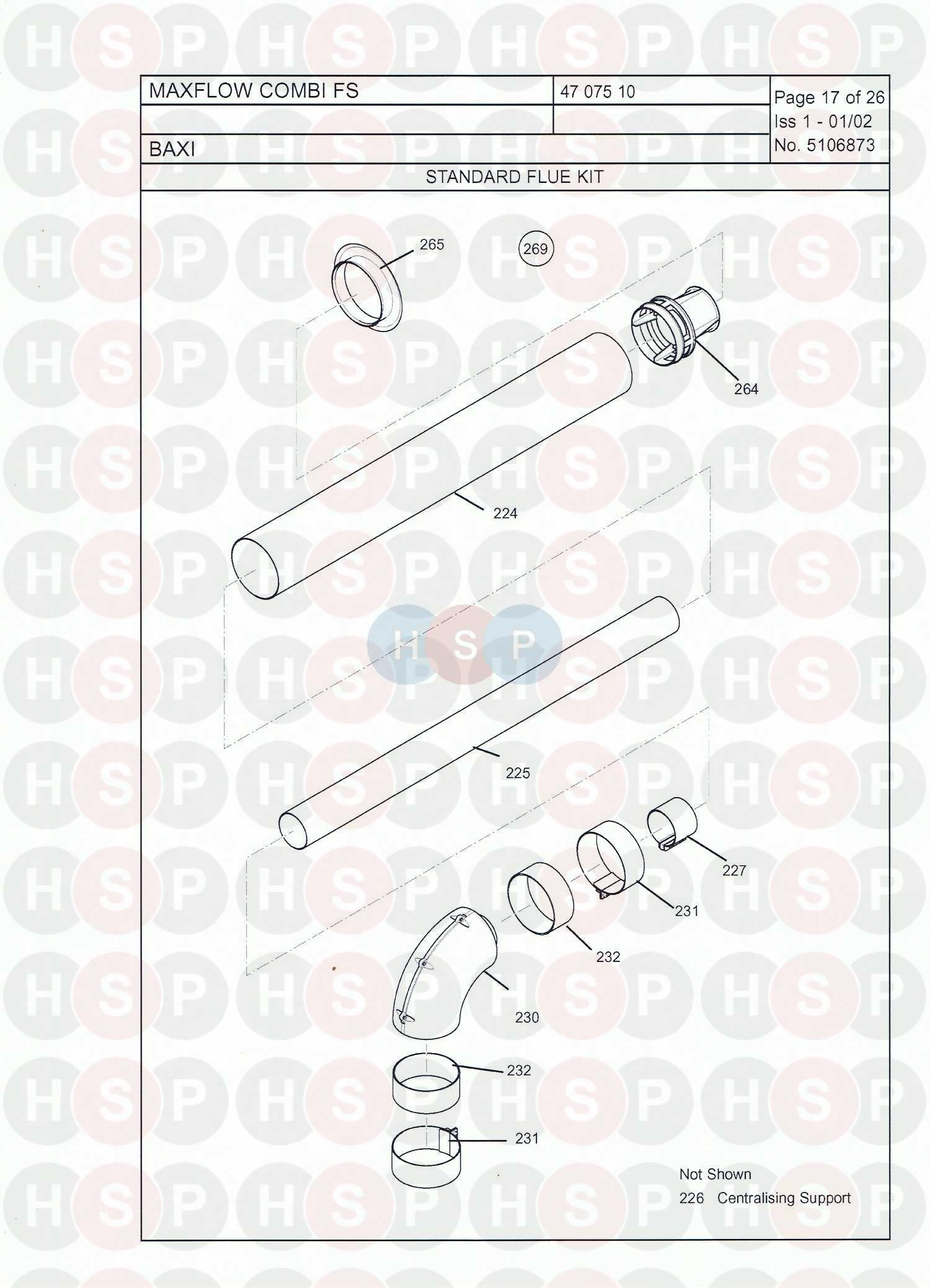 baxi maxflow combi fs appliance diagram  flue