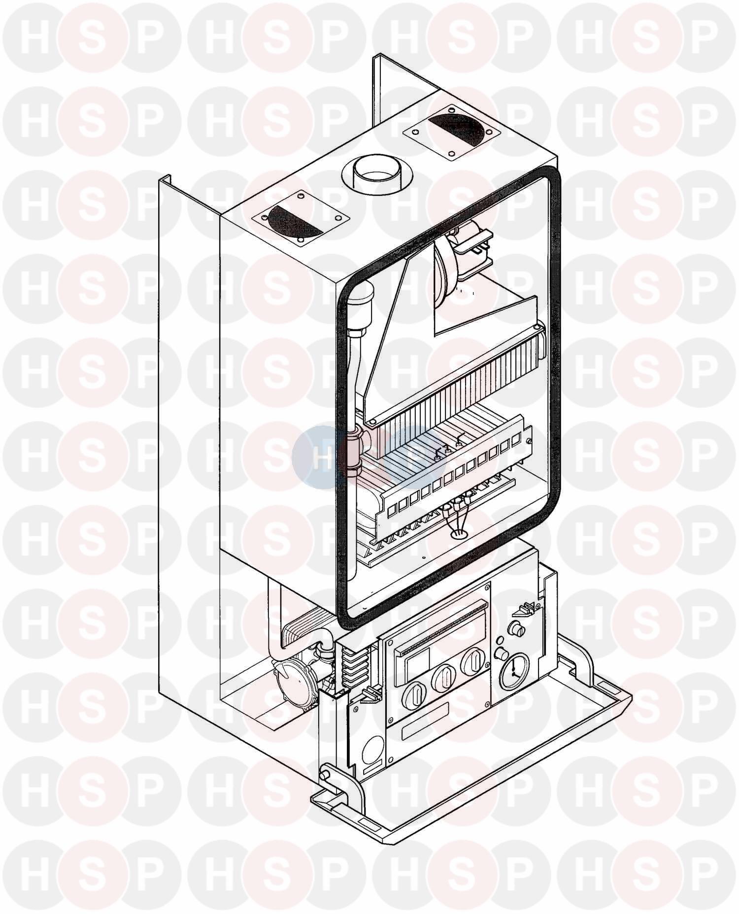 biasi prisma 24sr  2002   appliance overview  diagram