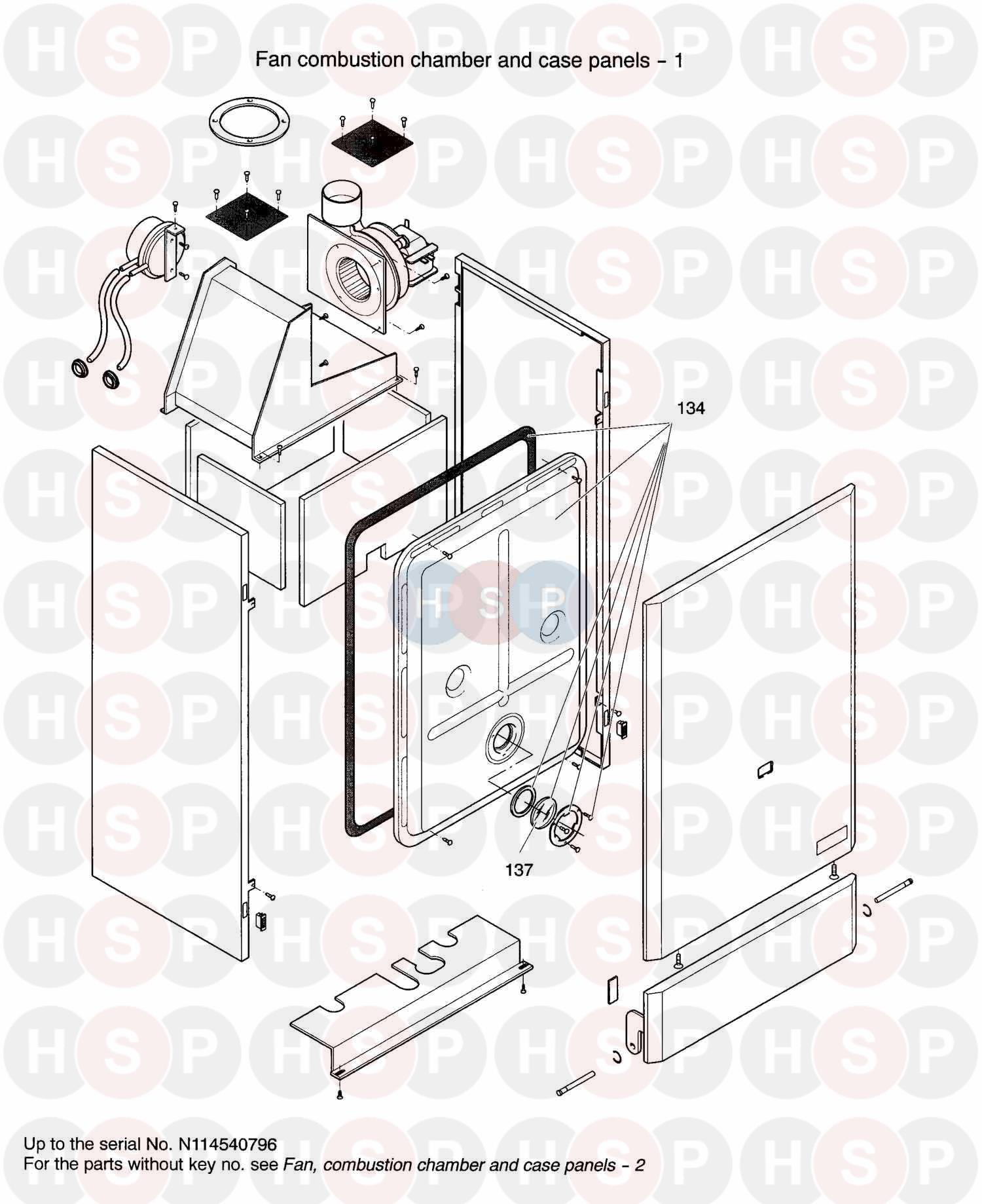 biasi prisma 24s  200 appliance diagram  fan combustion