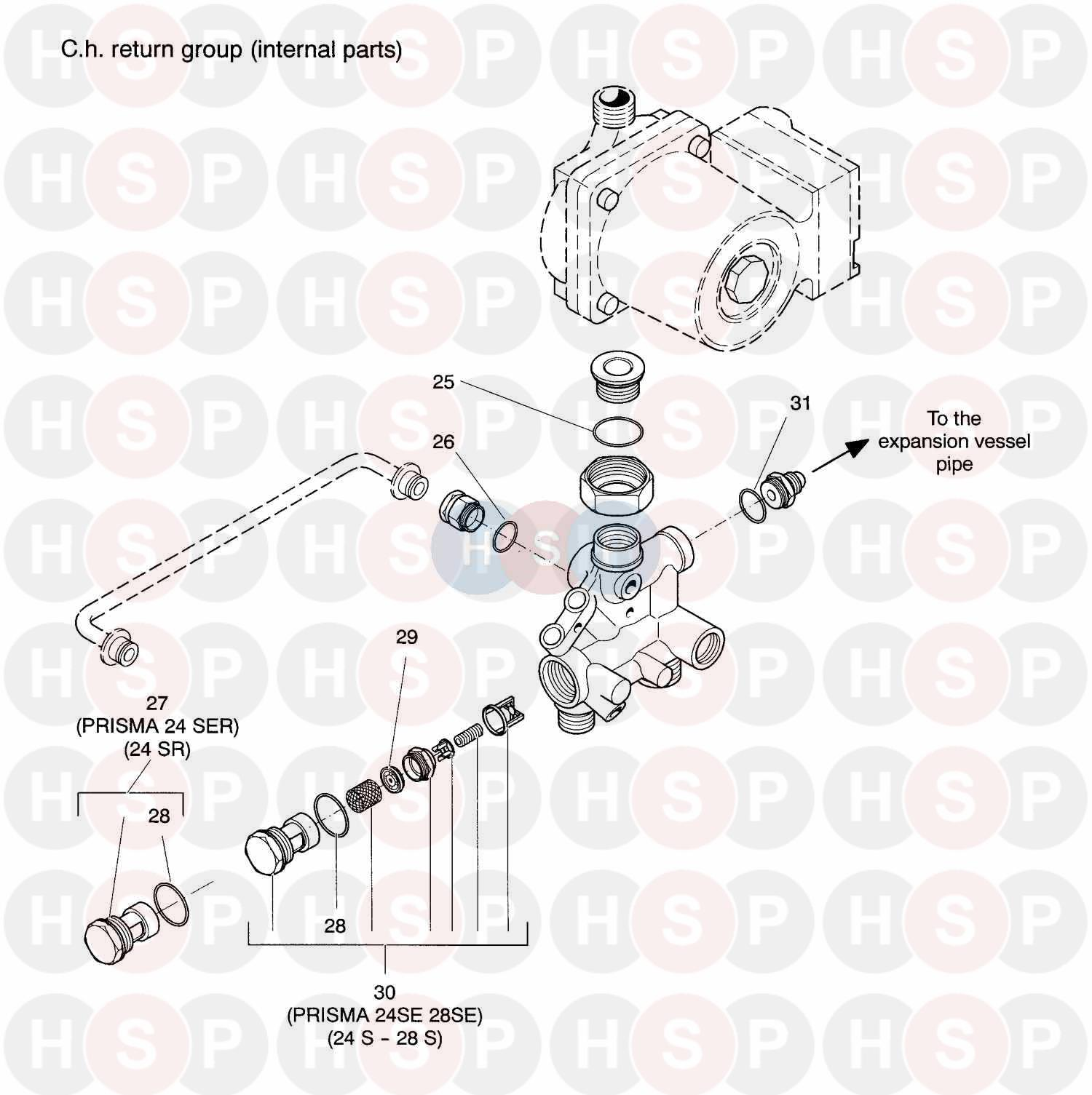 Biasi Prisma 24s 200 Ch Return Groups Diagram Heating Spare Parts Boiler Wiring For