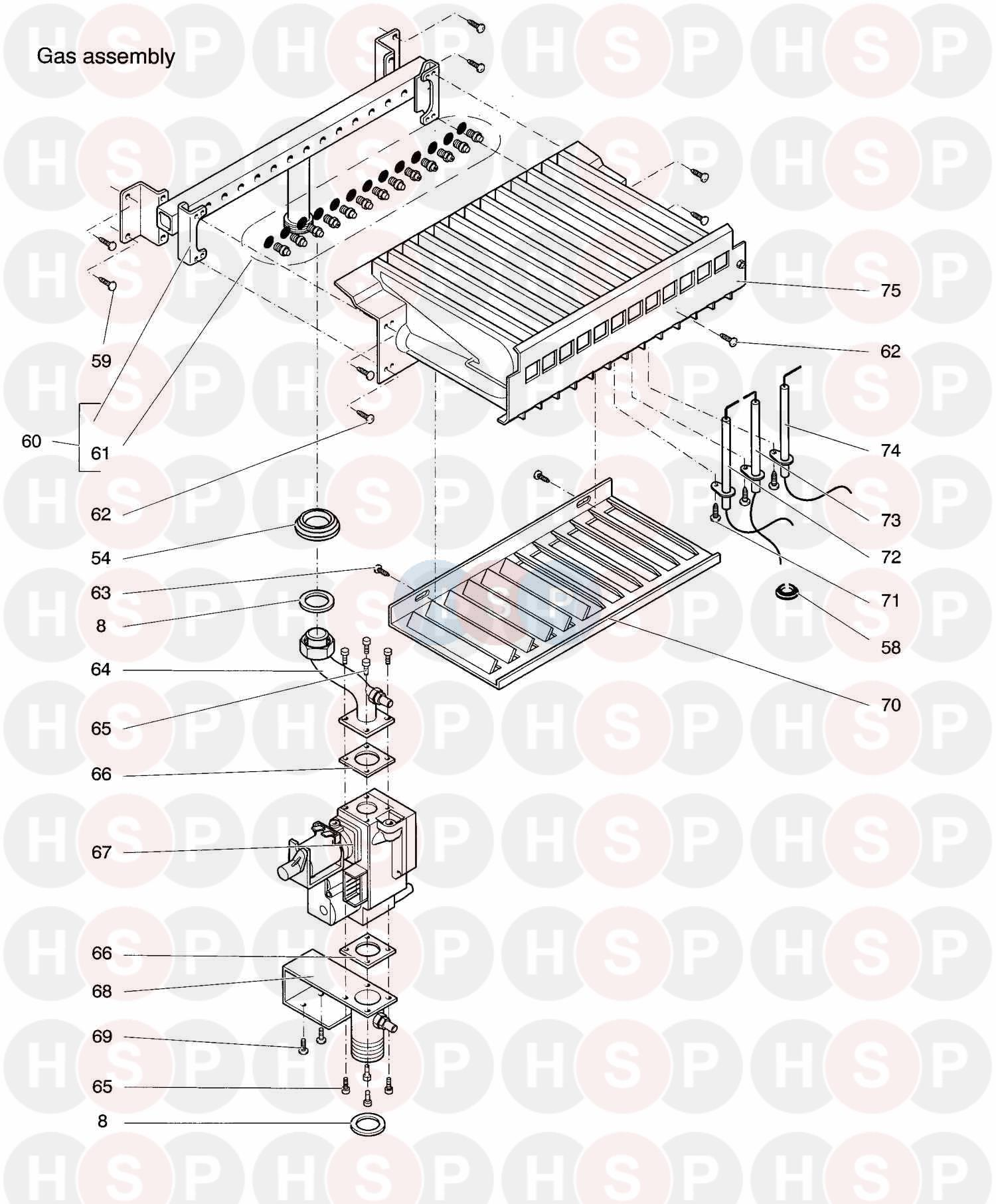 biasi prisma 24se  1998   gas assembly  diagram
