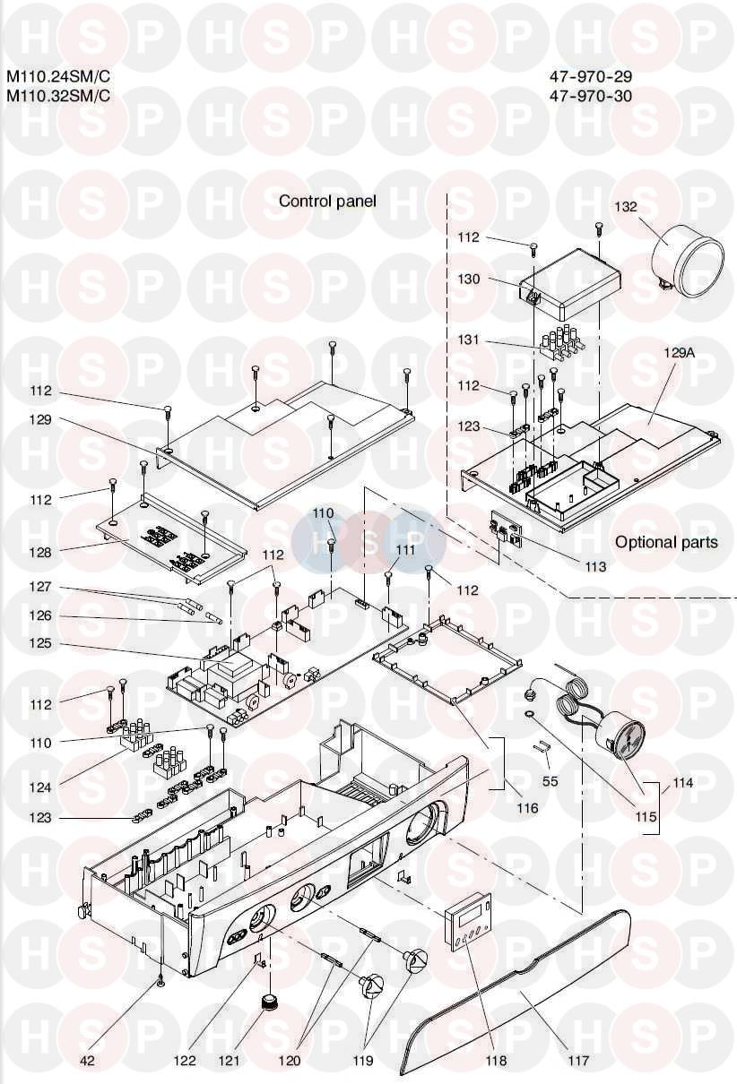 biasi riva advance he m110 24sm  c  control panel  diagram