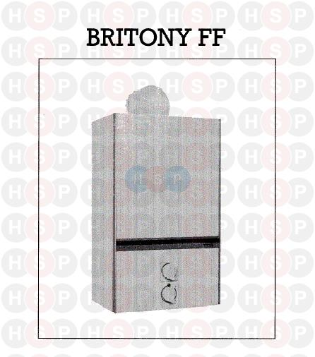 APPLIANCE OVERVIEW diagram for Chaffoteaux BRITONY FF