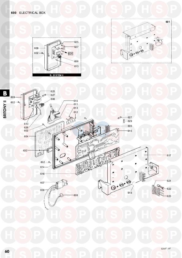 Chaffoteaux BRITONY SYSTEM II PLUS 100 (PCB) Diagram
