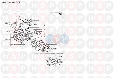Chaffoteaux Britony Combi système par pass vanne 61010110
