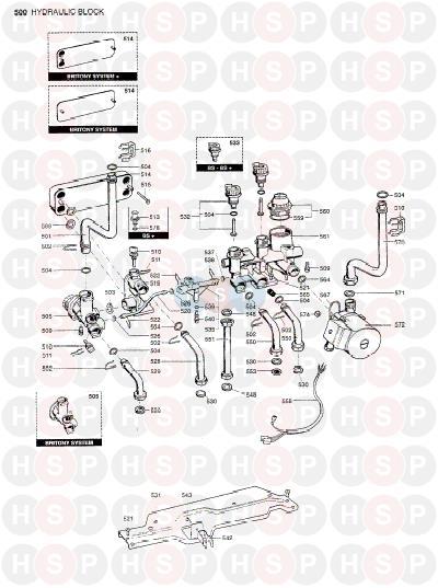 chaffoteaux britony combi 80  hydraulic block  diagram