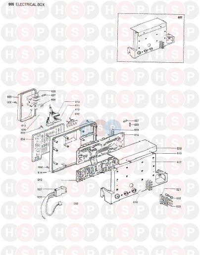 chaffoteaux britony combi 80  control box  diagram