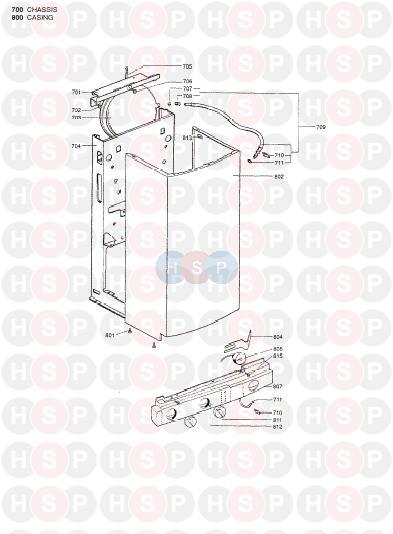 chaffoteaux britony combi 100  casing  diagram
