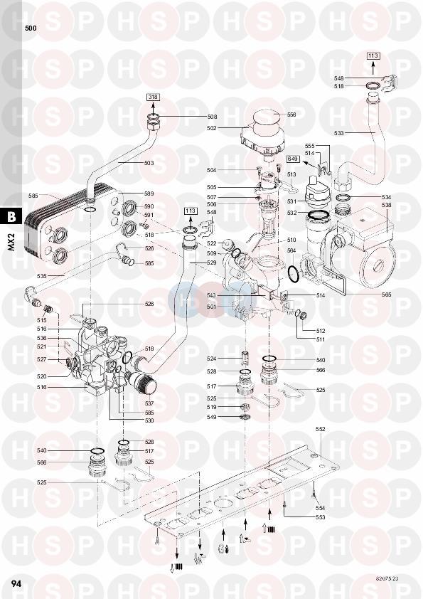 Chaffoteaux Mx2 24 Ff  Heat Exchanger  Pump Diagram