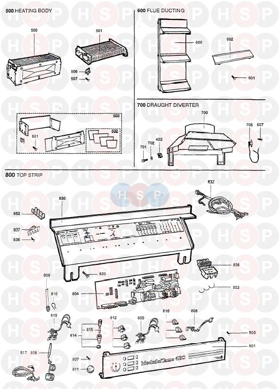 Chaffoteaux MODULOFLAME 420 Appliance Diagram (BURNER