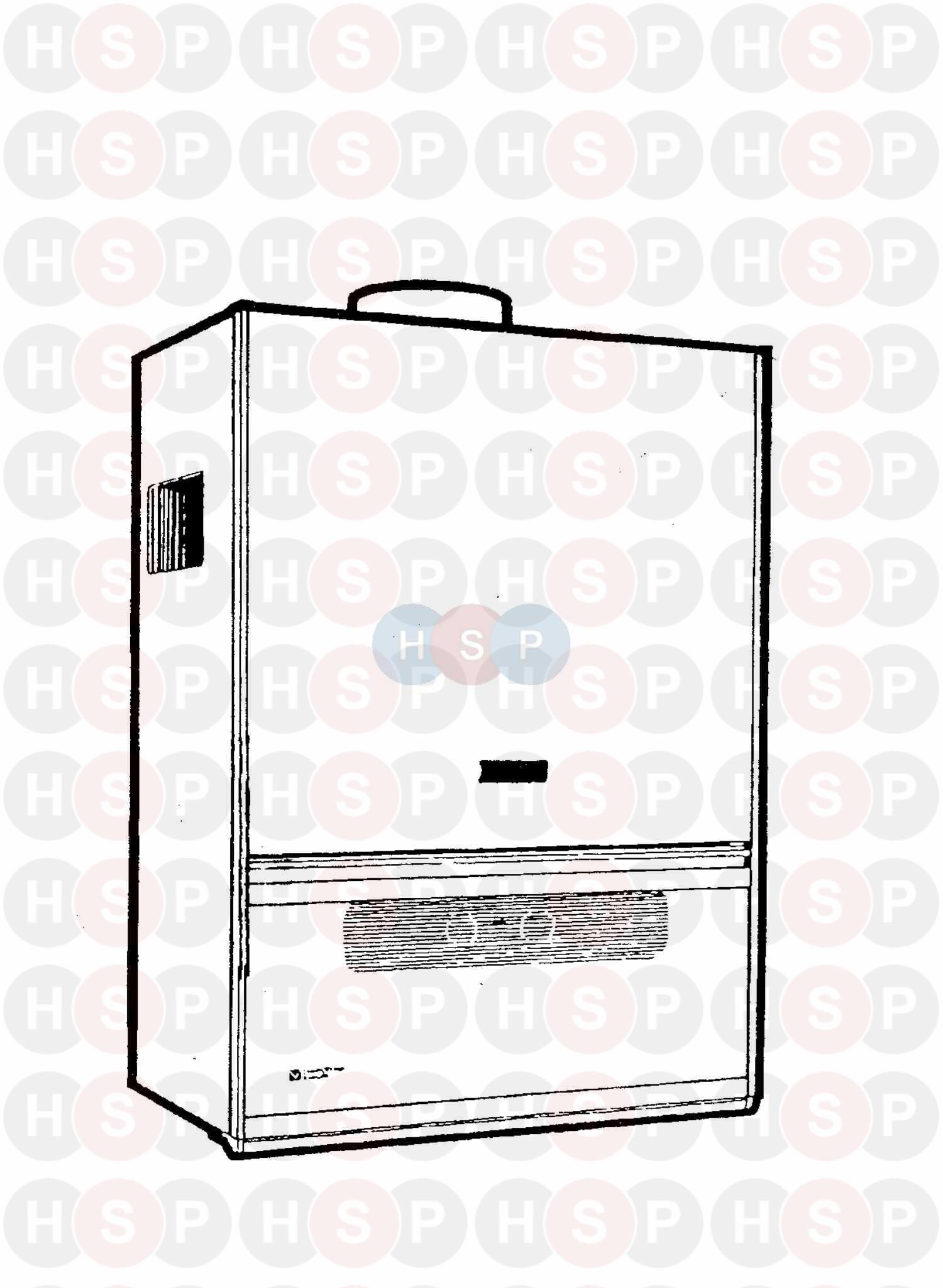 Chaffoteaux FLEXIFLAME 140 Appliance Diagram (APPLIANCE